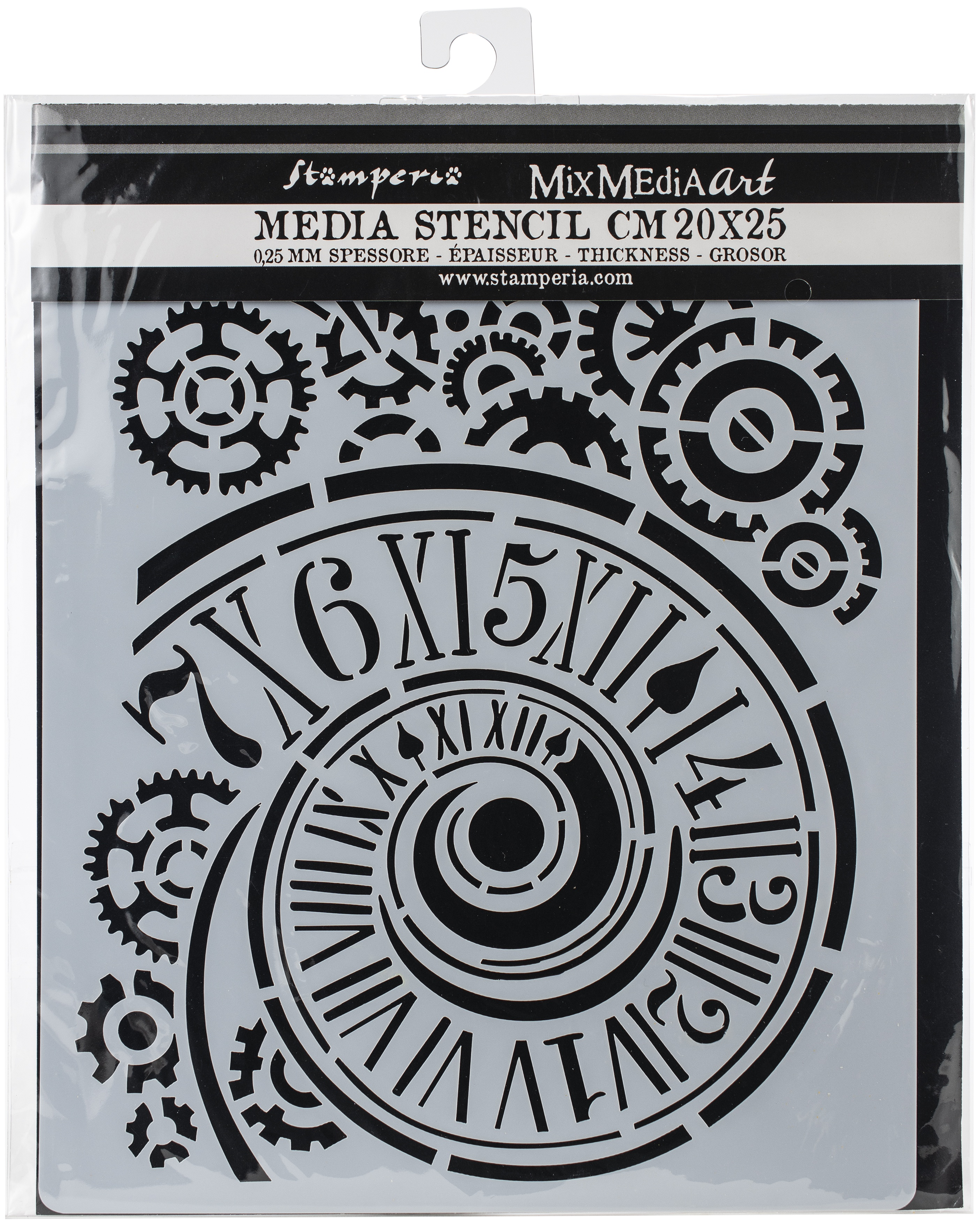 Stencil - Clock/Mechanism