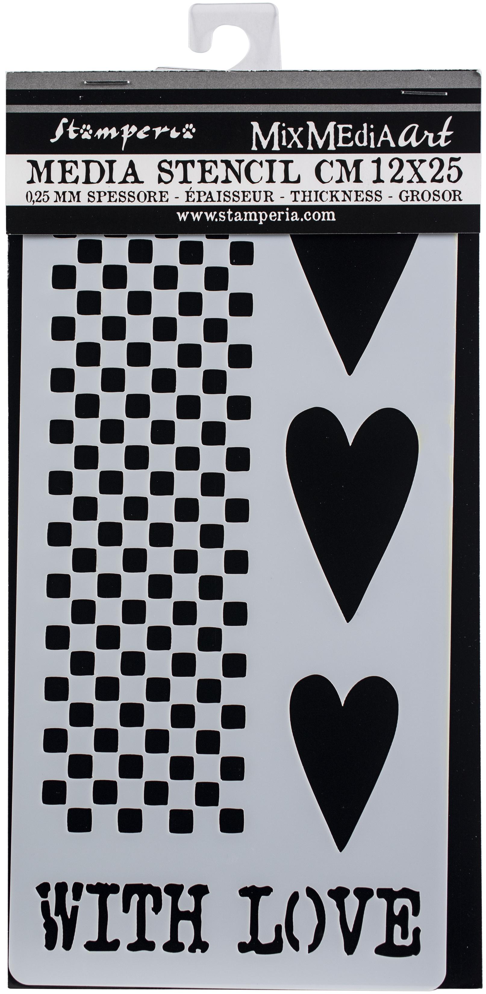 Stamperia Stencil 4.72X9.84-Hearts