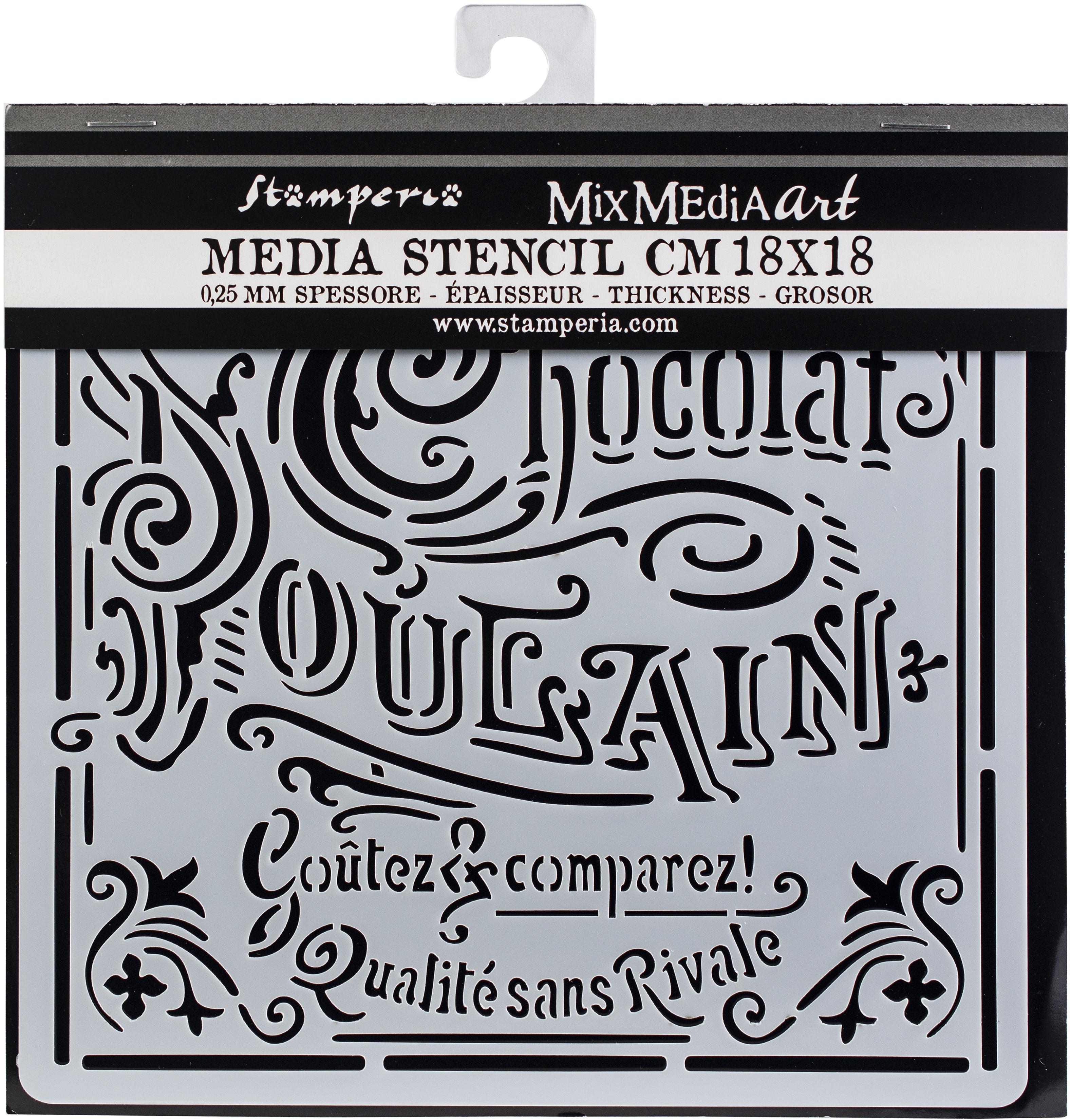 Stamperia Stencil 7.08X7.08-Chocolate