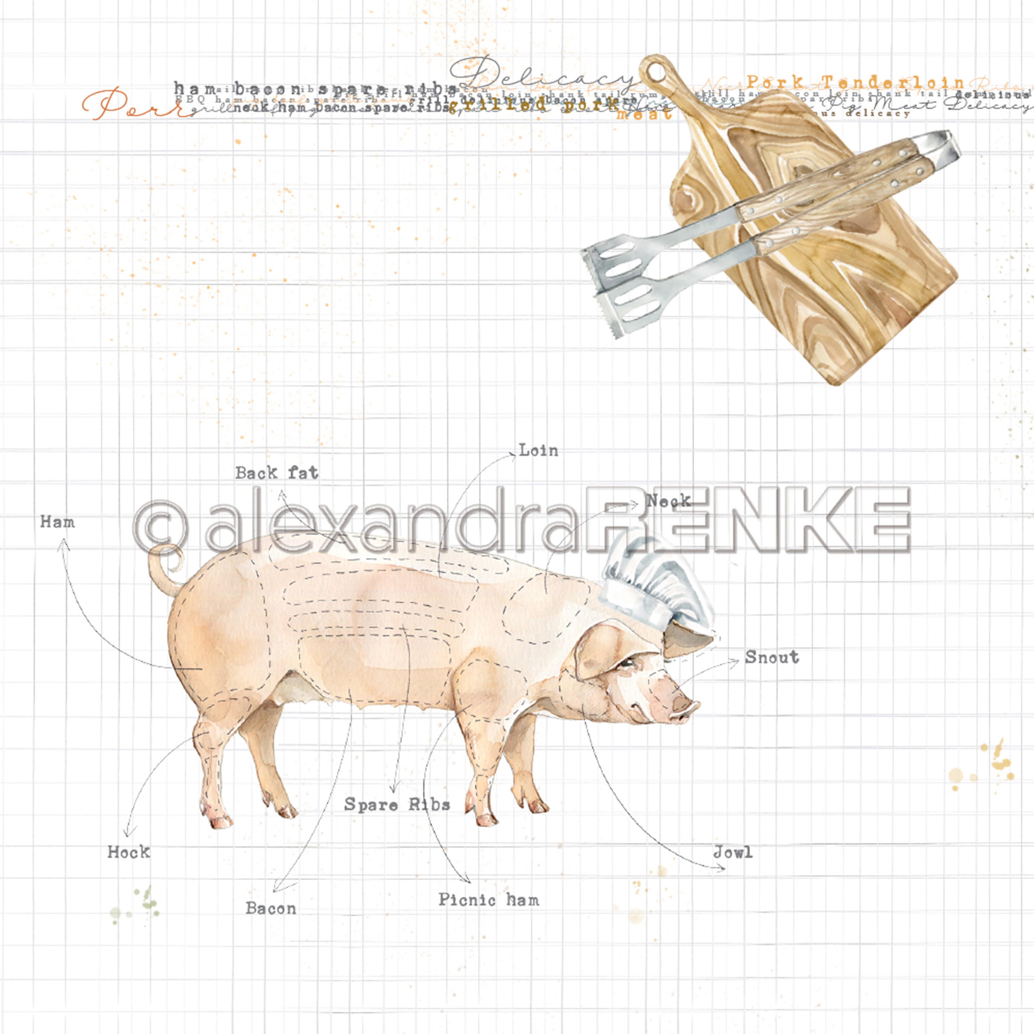 Cooking Paper Pig
