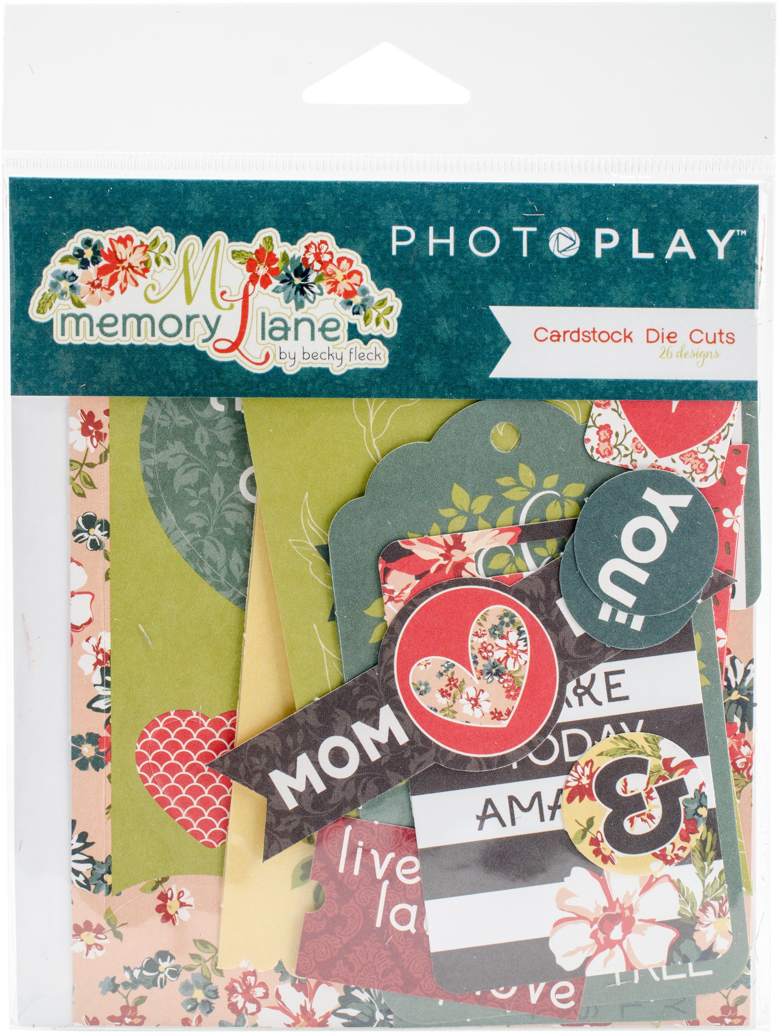 Memory Lane Ephemera Cardstock Die-Cuts 26/Pkg-