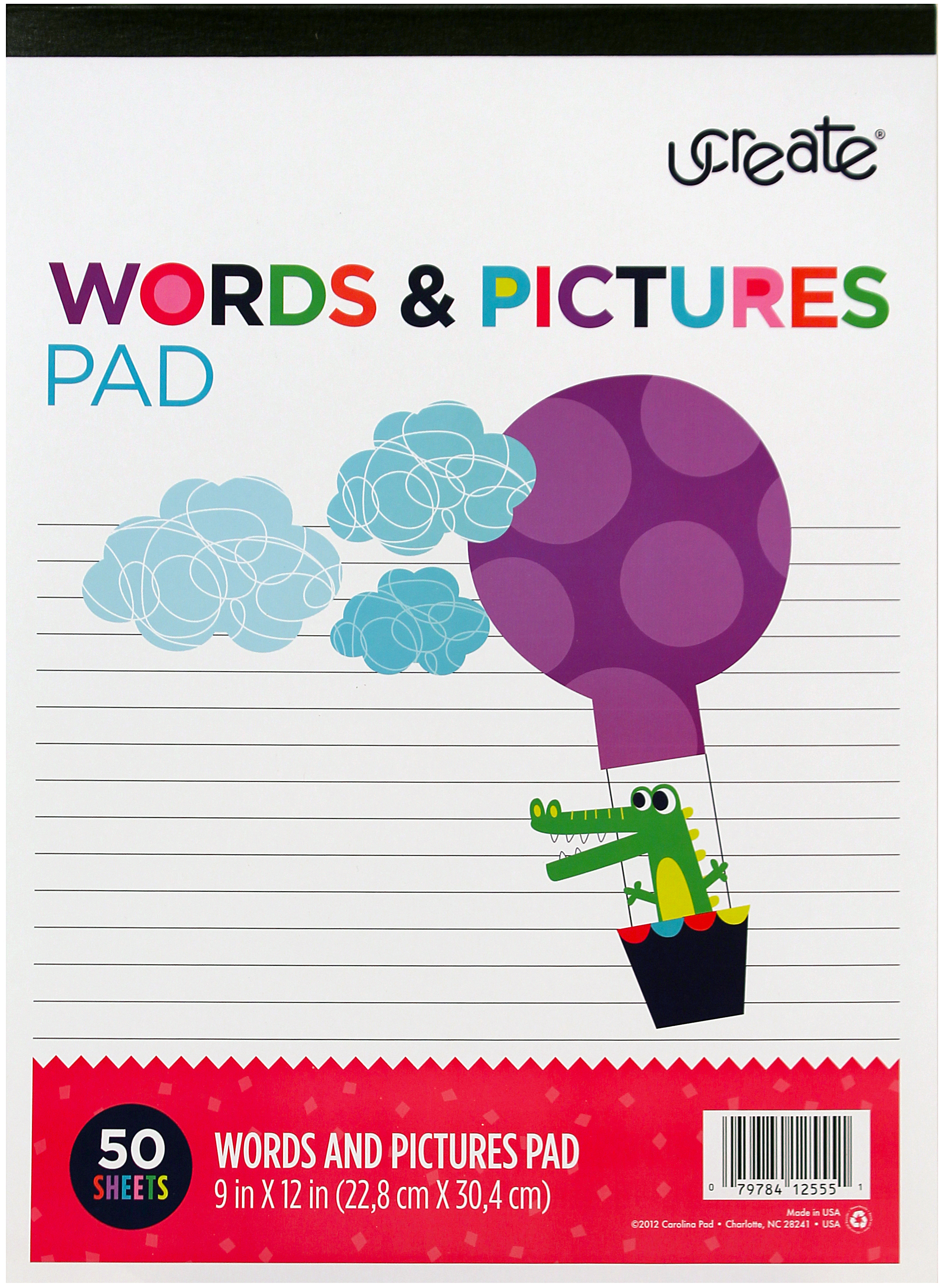 50 SHEETS -WORDS & PICTURE PAD