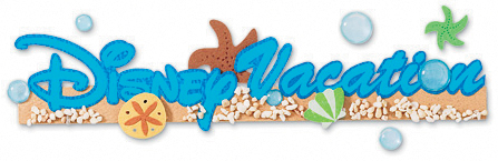 Disney Title Dimensional Stickers-Disney Vacation