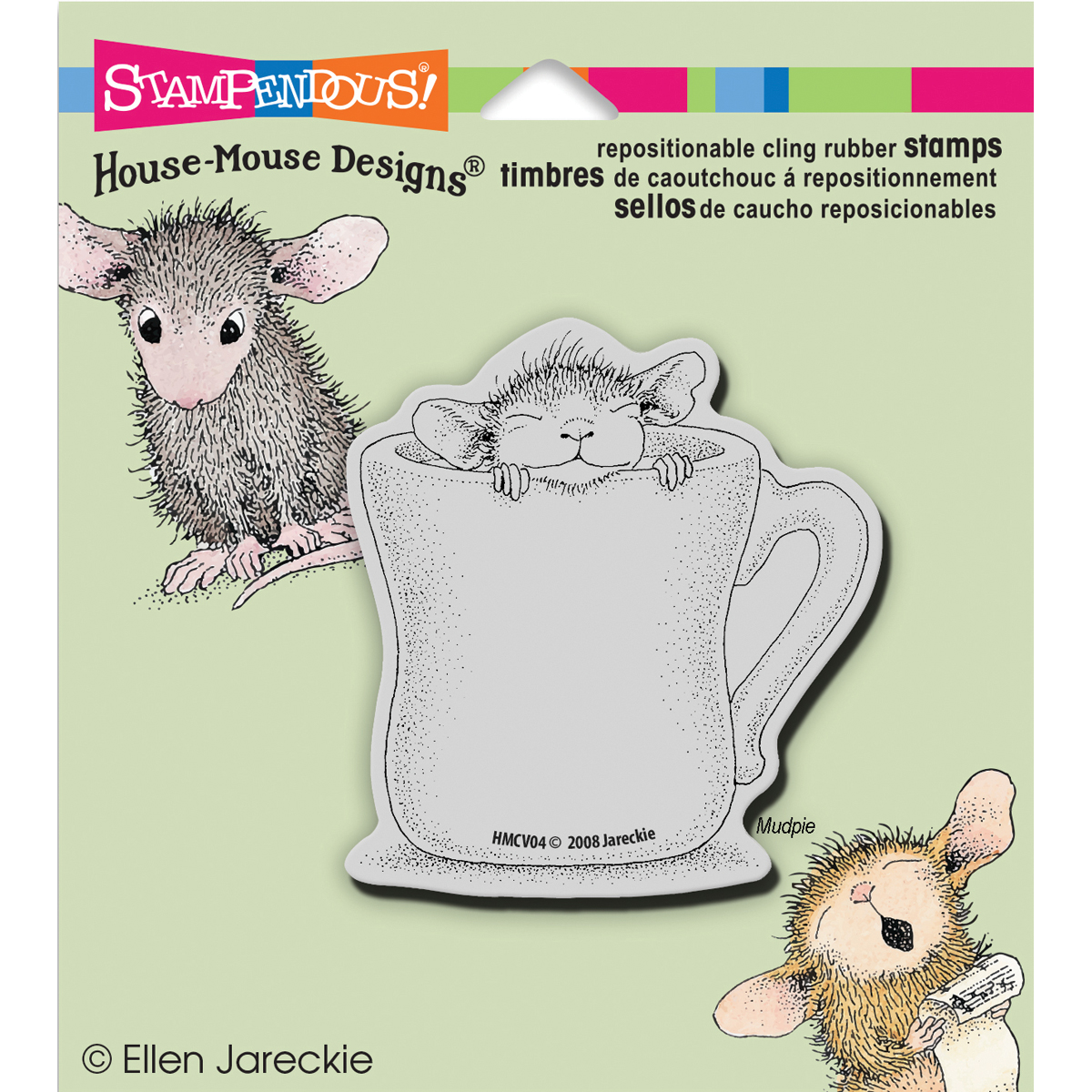 Stampendous House Mouse Cling Stamp -Warm Cup