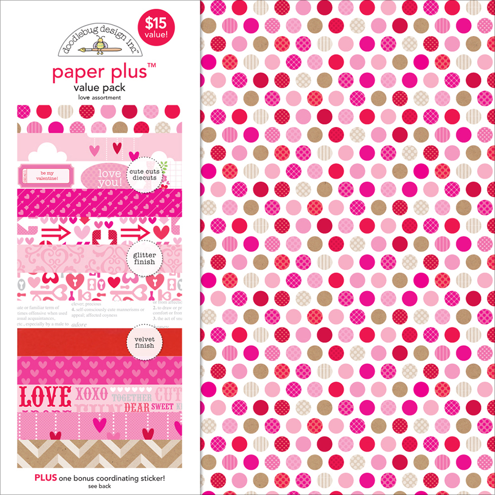 Doodlebug Paper Plus Value Pack 12X12-Love
