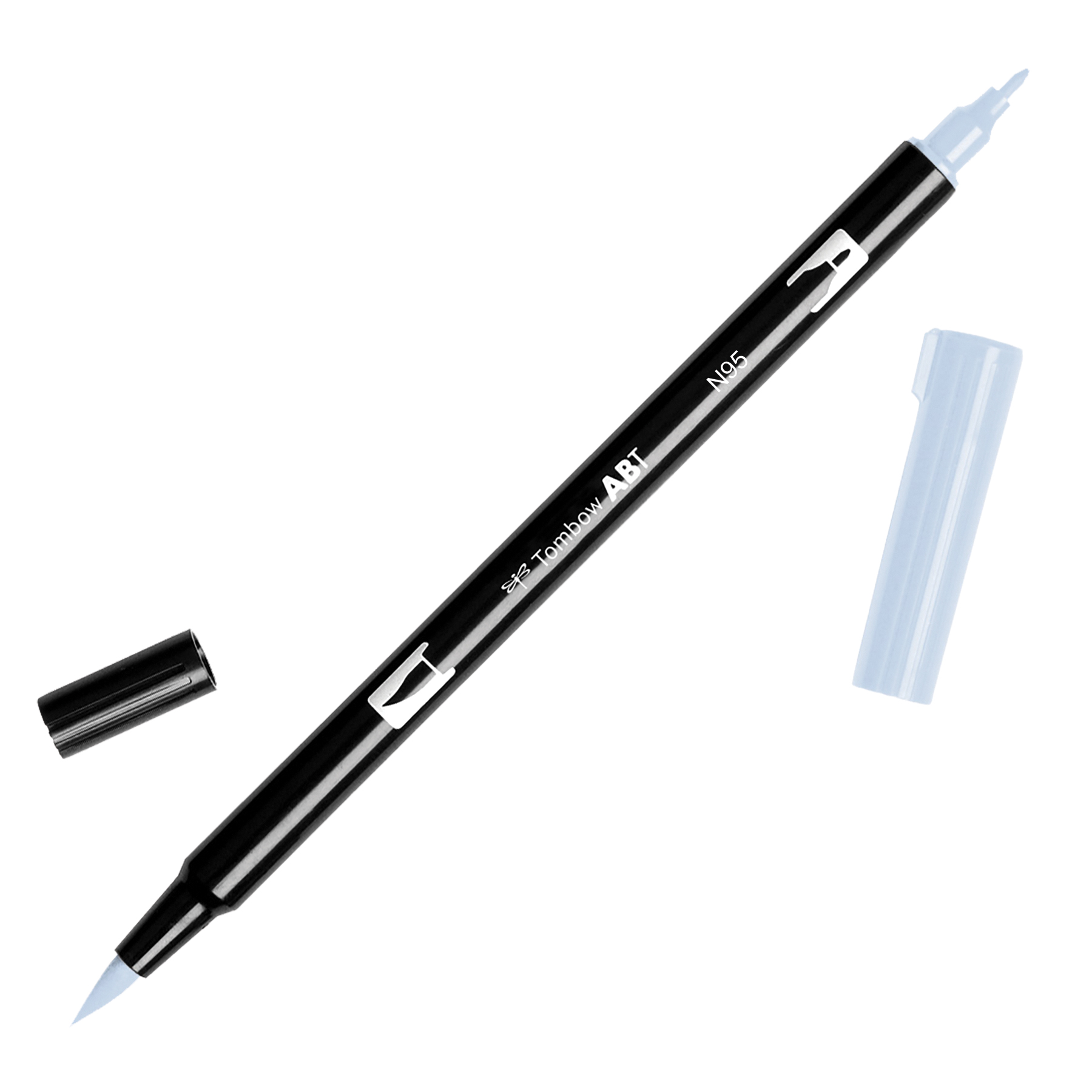 Tombow Dual Brush Marker Open Stock-N95 Cool Gray 1