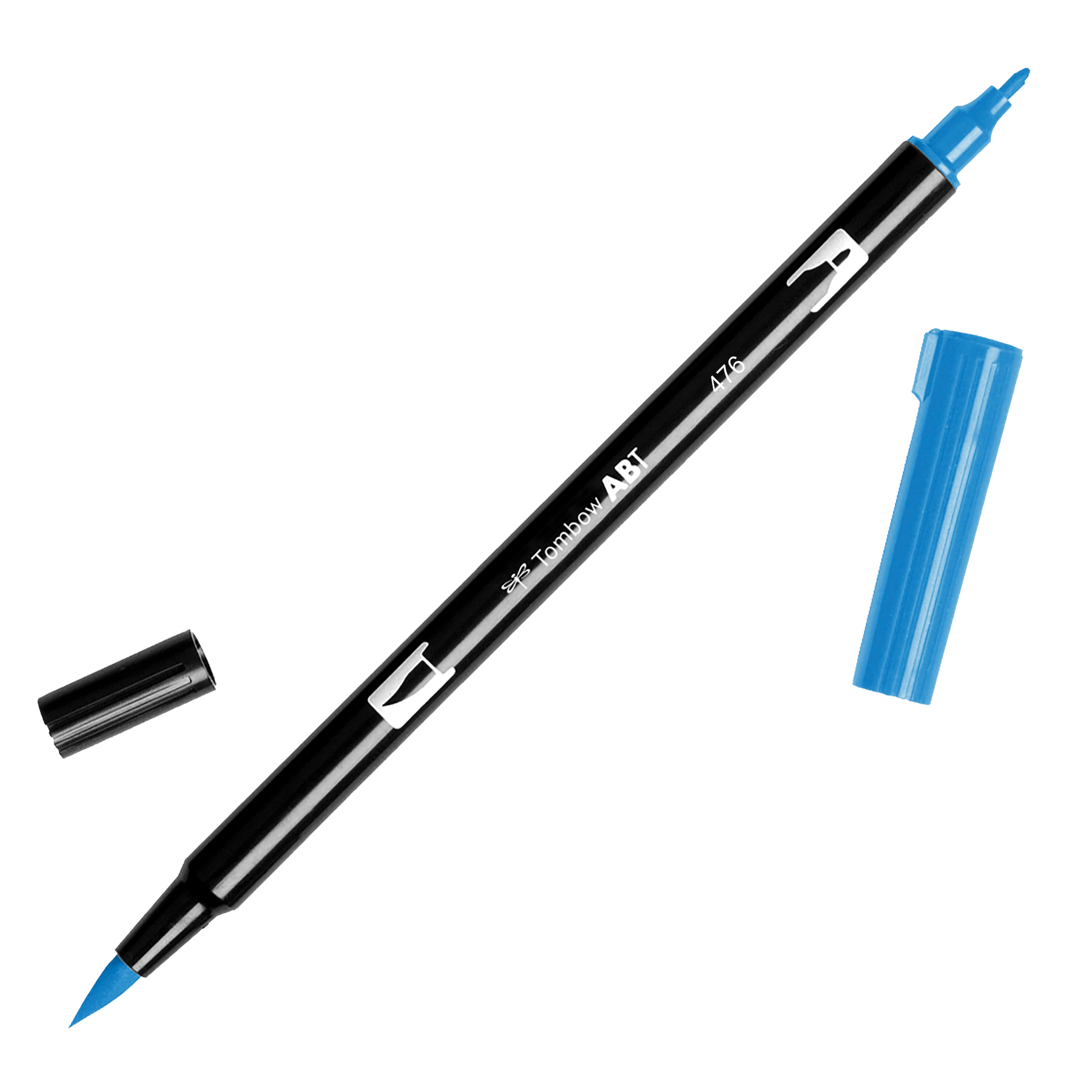 Tombow Dual Brush Marker Open Stock-476 Cyan