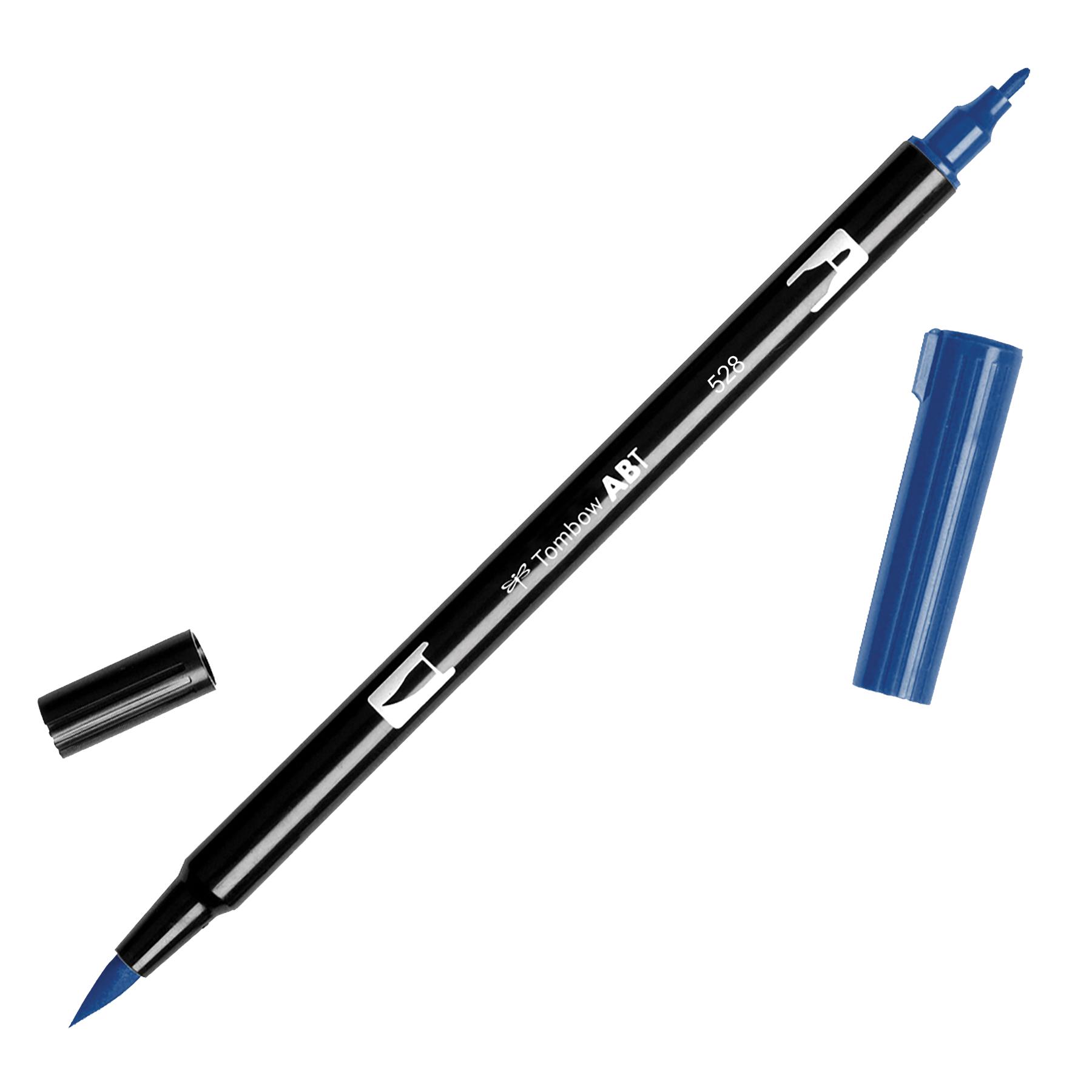 Tombow Dual Brush Marker Open Stock-528 Navy Blue
