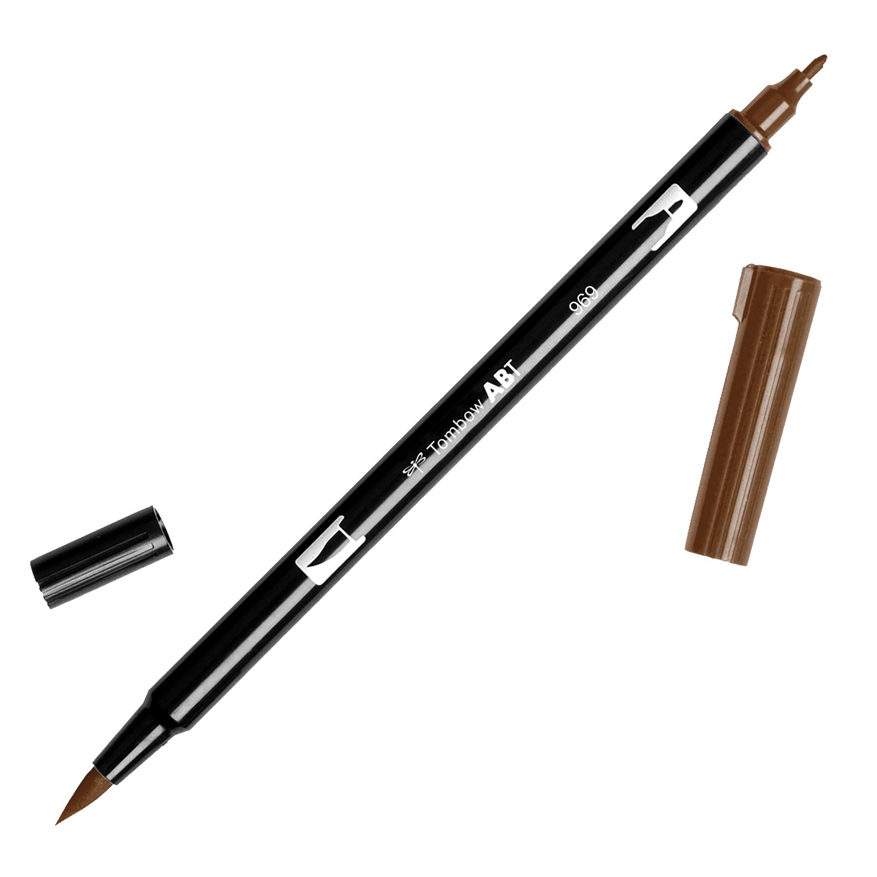 Tombow Dual Brush Marker Open Stock-969 Chocolate