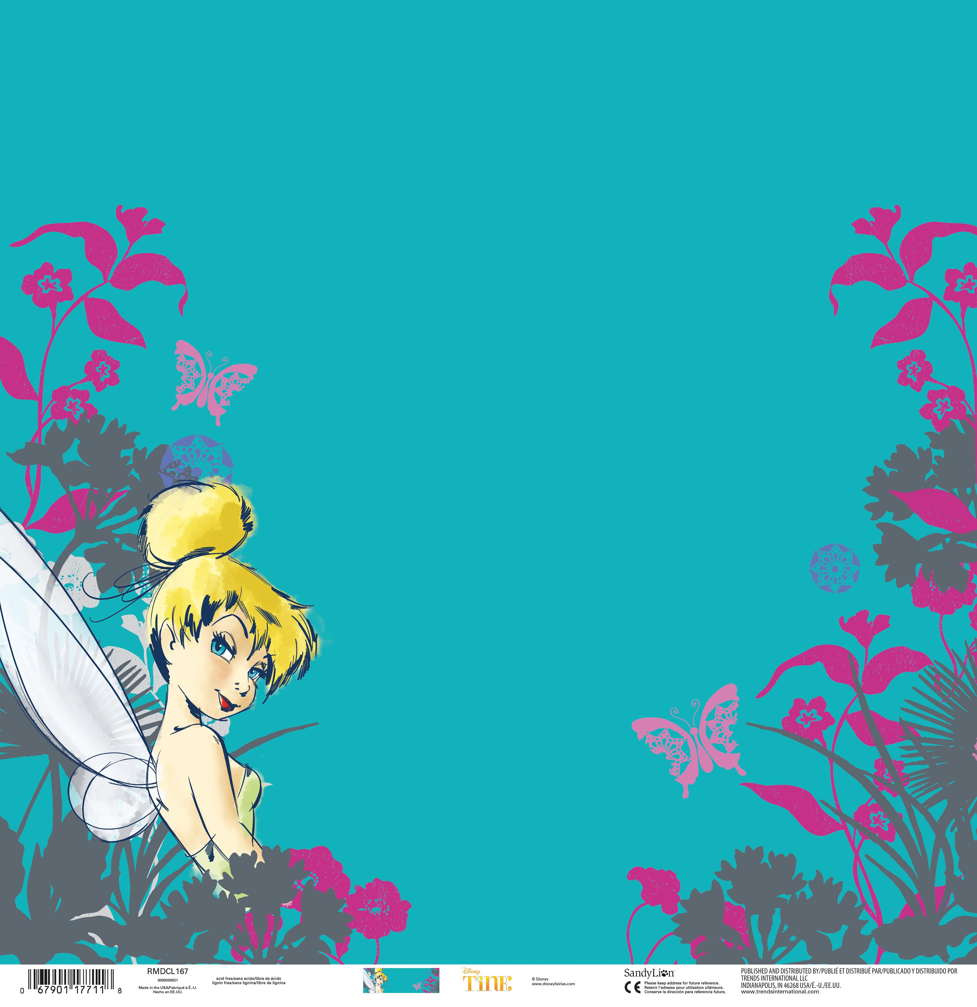 Disney Single-Sided Paper 12X12-Tinkerbell