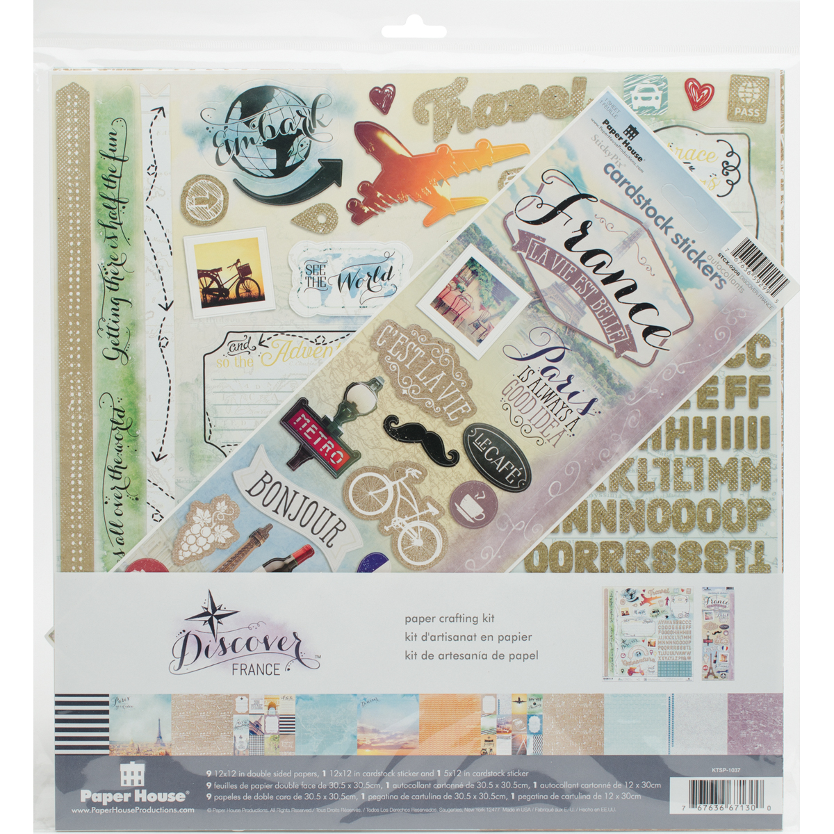 Discover France Paper Kit