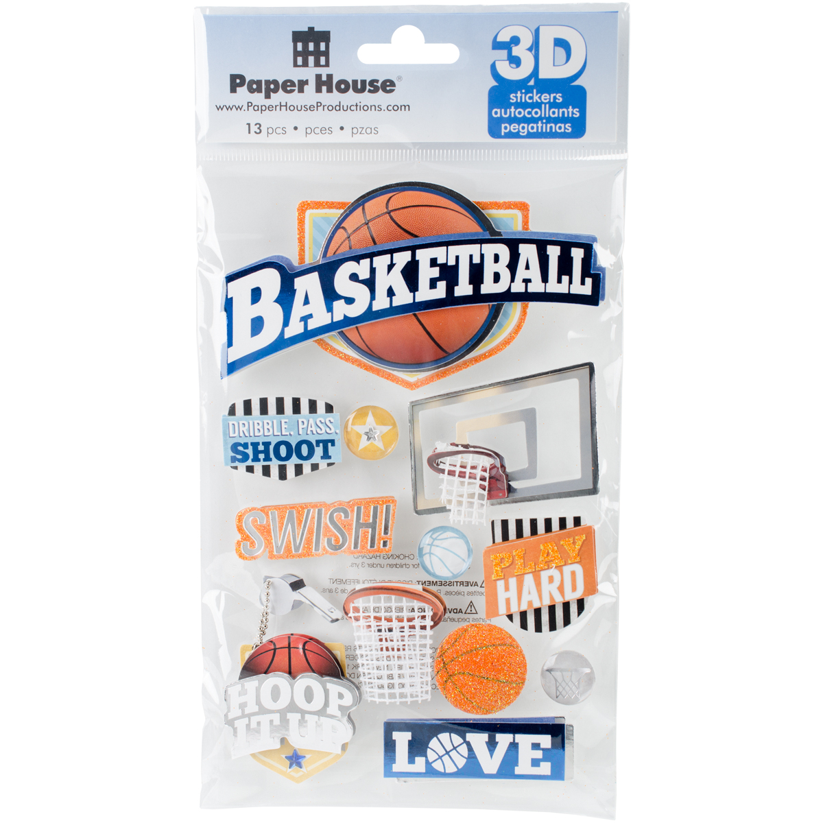 BASKETBALL-3D STICKERS