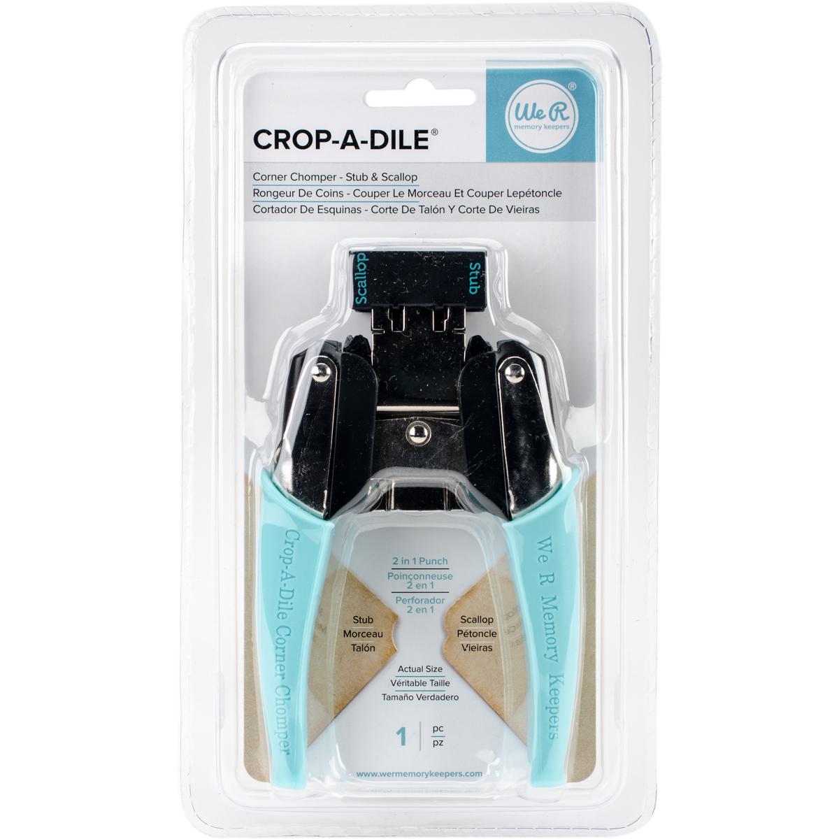 Crop-A-Dile Corner Chomper Tool-Stub & Scallop