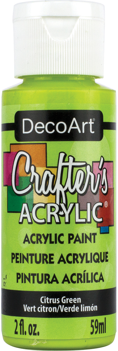 Crafter's Acrylic All-Purpose Paint 2oz-Citrus Green