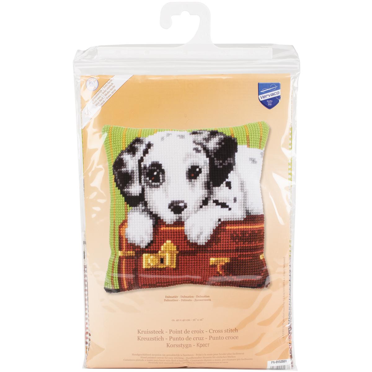 Vervaco Needlepoint Cushion Top Kit 16X16-Dalmatian