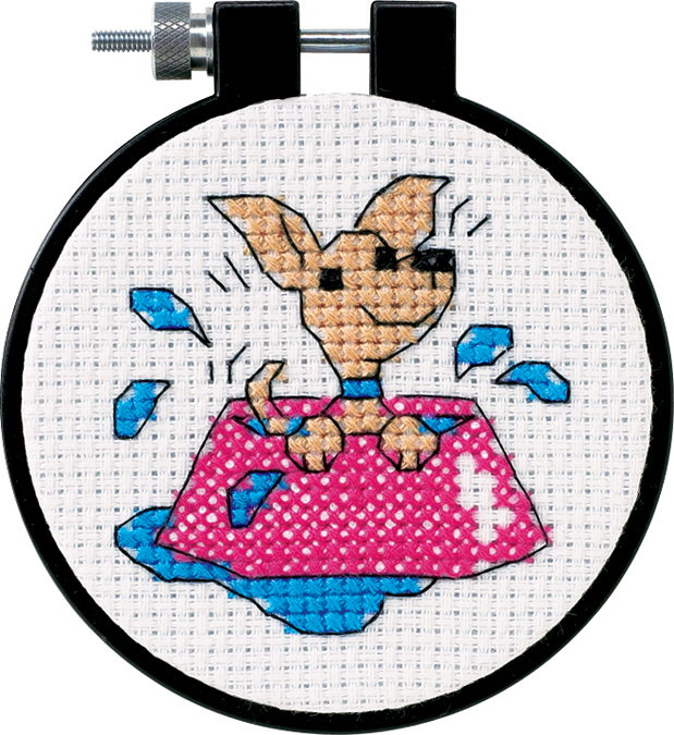 Dimensions/Learn-A-Craft Counted Cross Stitch Kit 3 Round-Perky Puppy (11 Count...