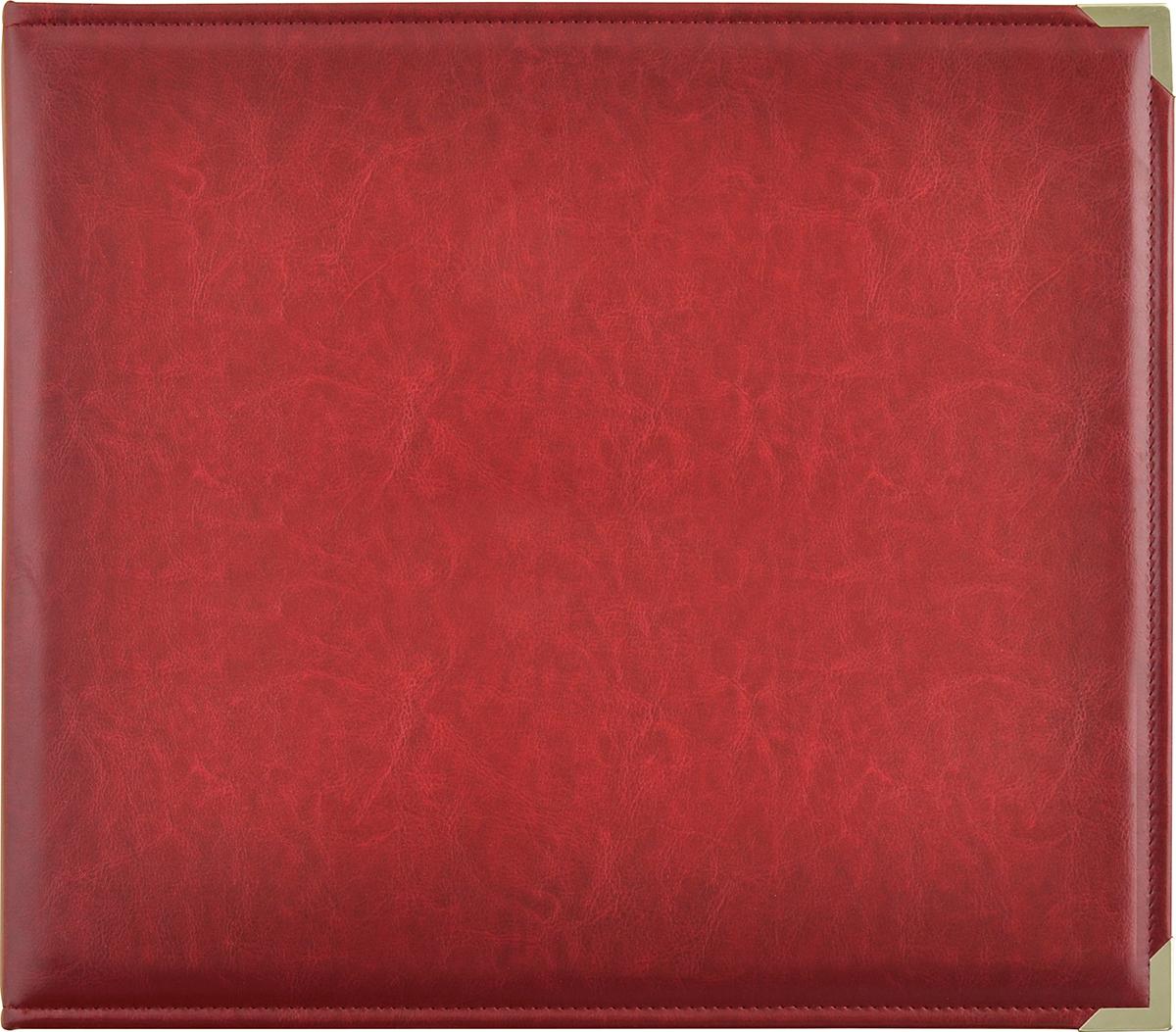 Kaisercraft Leather D-Ring Album 12X12-Deep Red