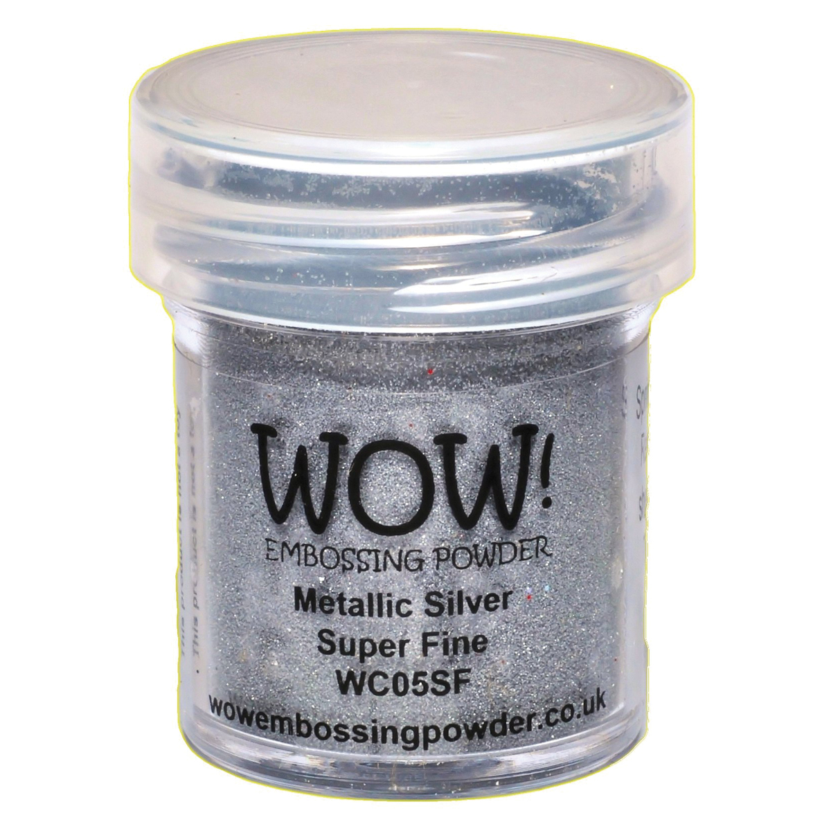 WOW! Embossing Powder Super Fine 15ml-Silver