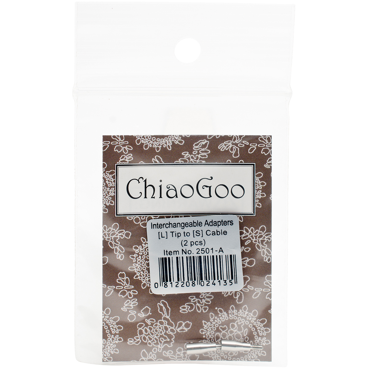 ChiaoGoo Cable Interchangeable Adapters 2/Pkg-Large - Small
