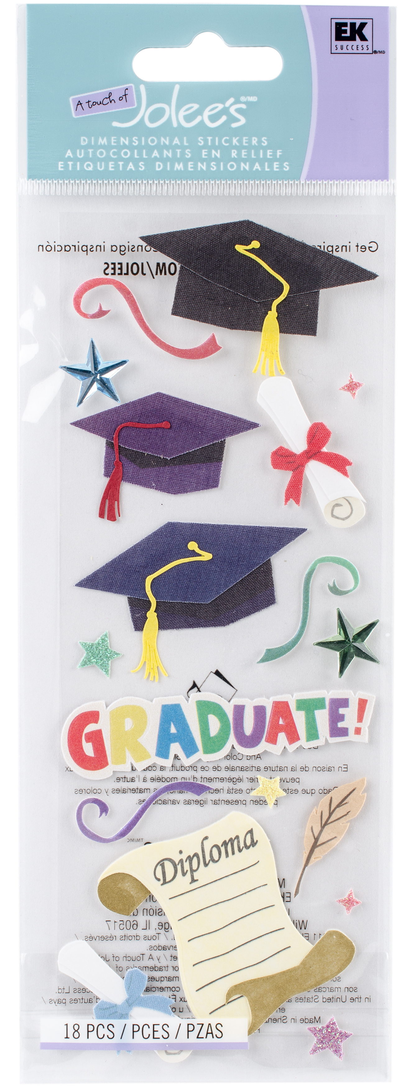 Touch Of Jolee's Dimensional Stickers-Graduation