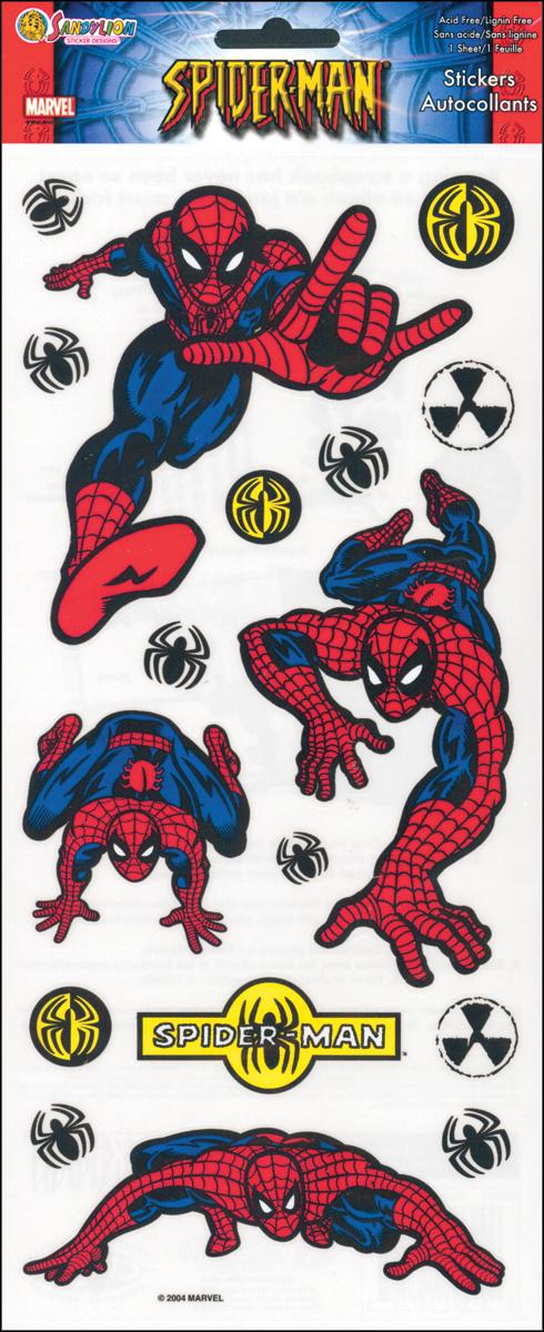 SandyLion Spiderman Stickers-17/Pkg