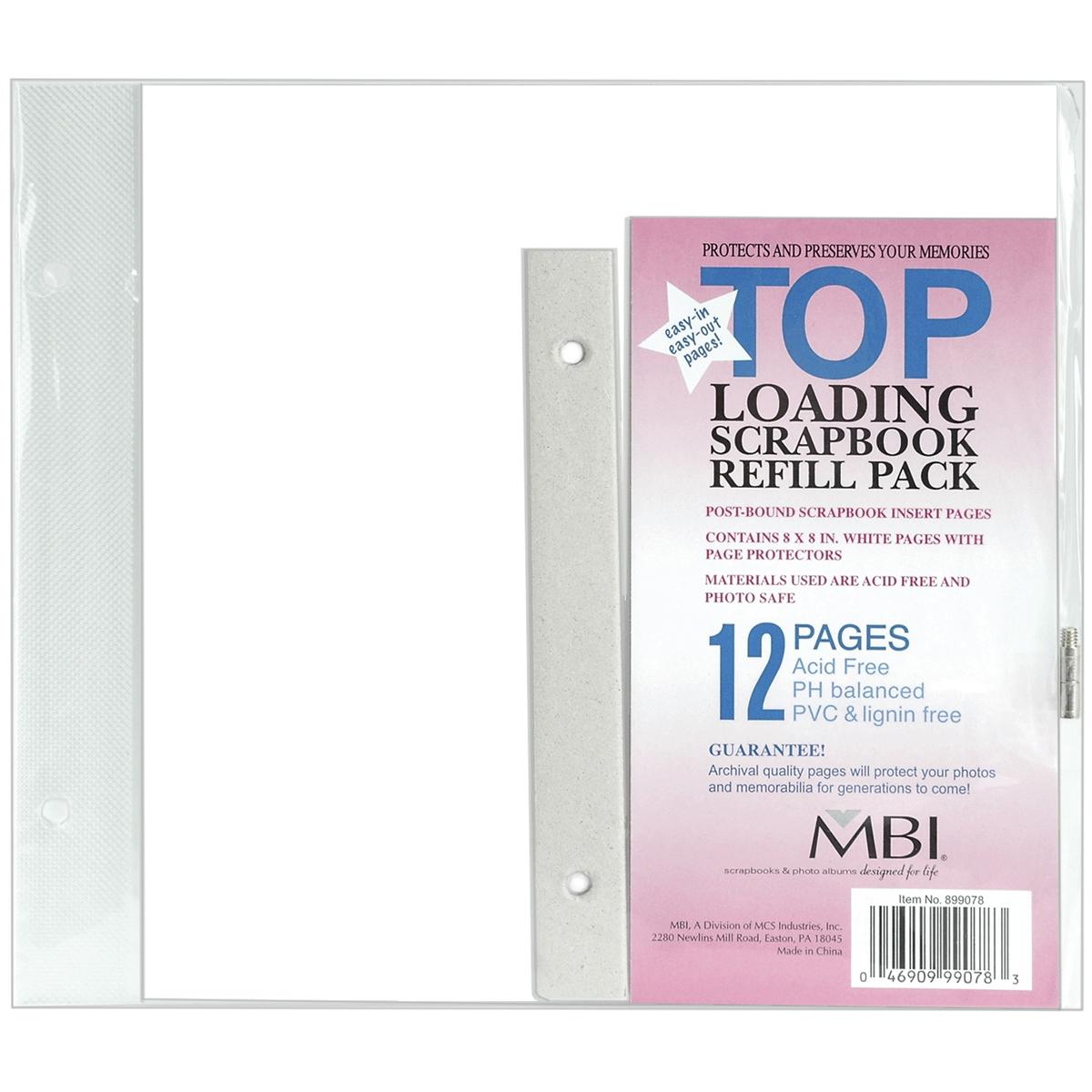 MBI Page Protectors 8X8 6/Pkg