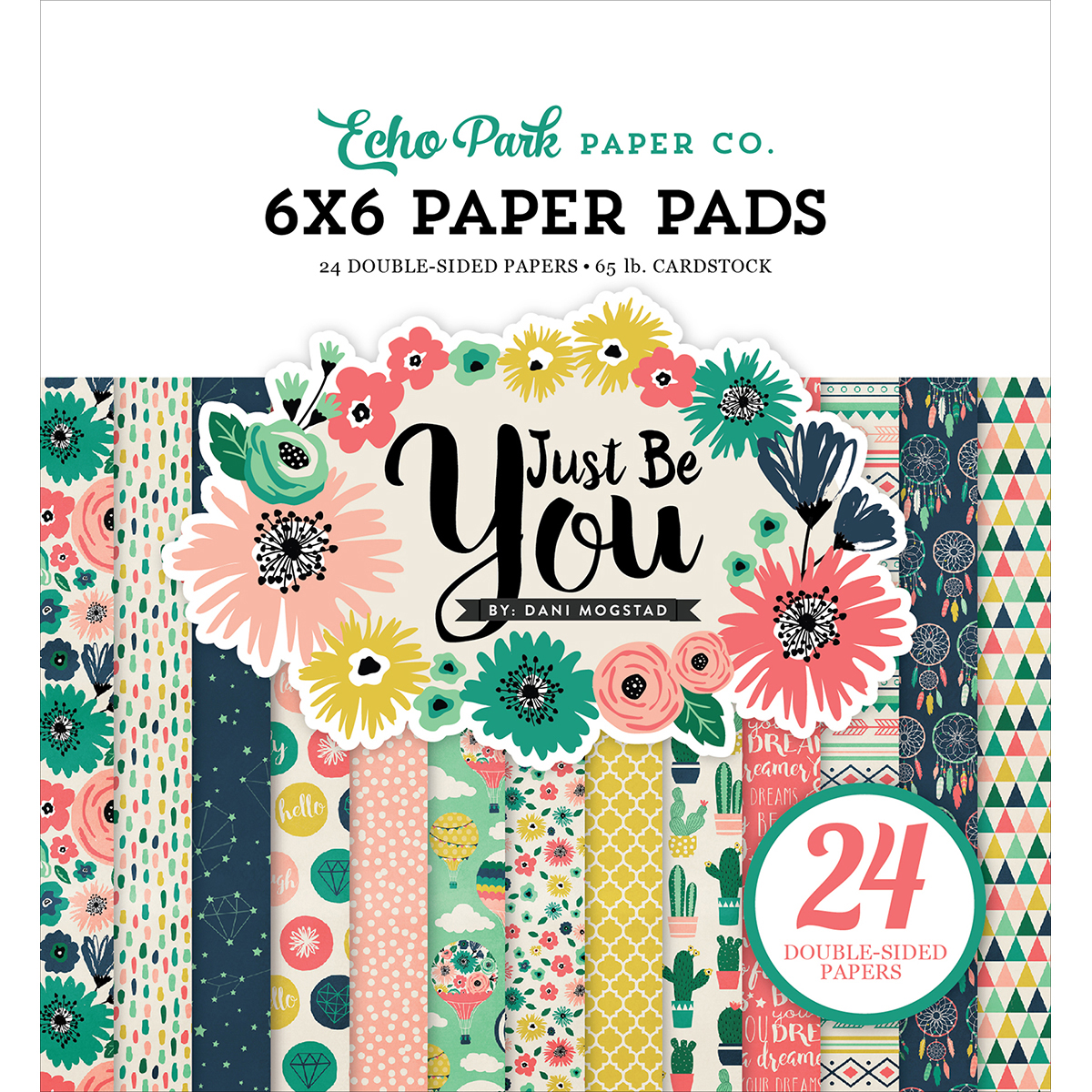 Echo Park Double-Sided Paper Pad 6X6 24/Pkg-Just Be You, 12 Designs/2 Each