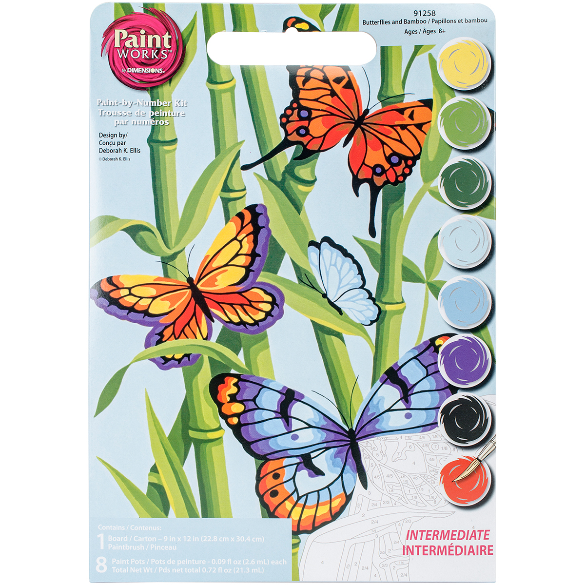 Paint Works Paint By Number Kit 9X12-Butterflies & Bamboo