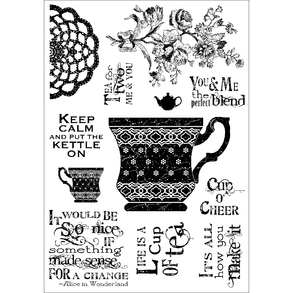 Darcie's Clear Stamp 4X5.5-Cup Of Tea