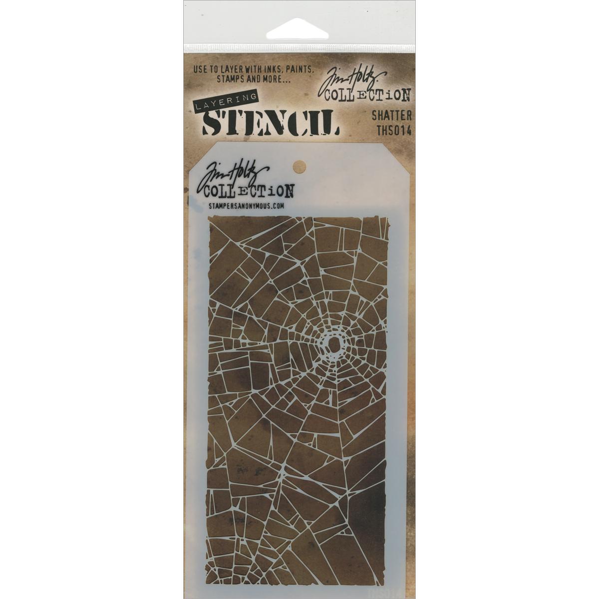 Tim Holtz Layered Stencil 4.125X8.5-Shatter