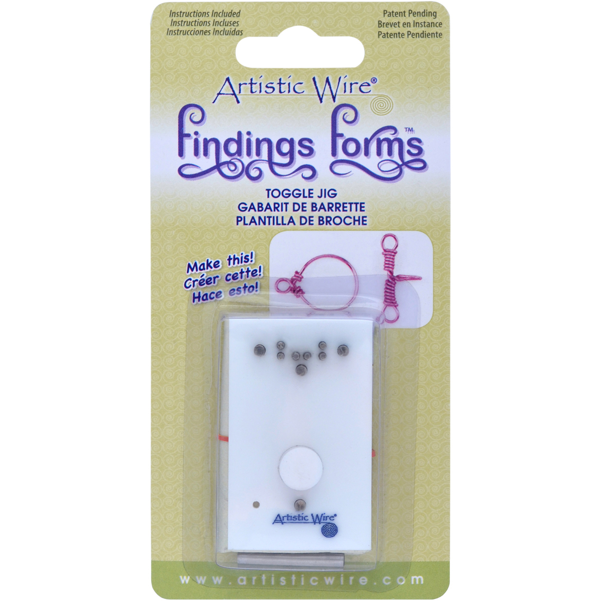 Artistic Wire Finding Forms Toggle Clasp Jig-