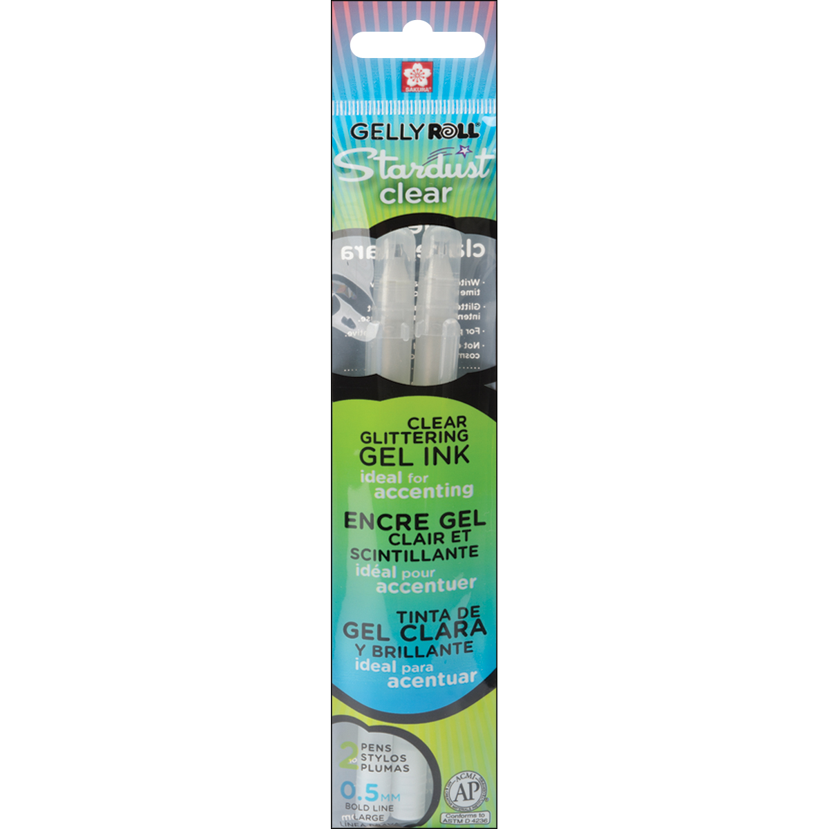 CLEAR     -GELLY ROLL STARD 2PK