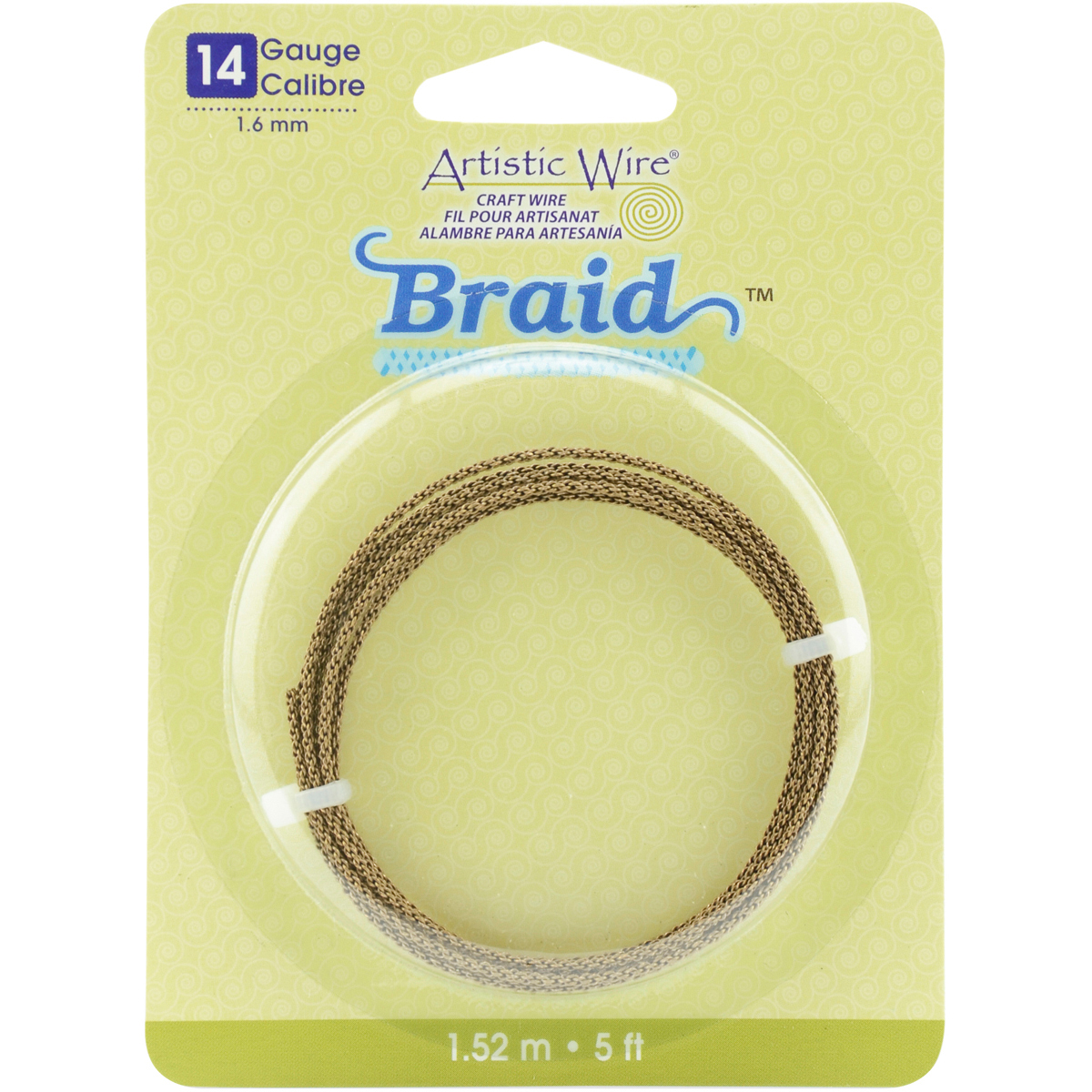 Artistic Wire Braid-Antique Brass 14 Gauge 5'
