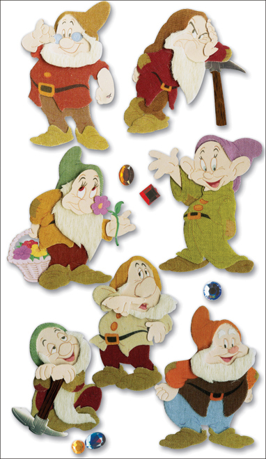 Disney Dimensional Stickers-7 Dwarves