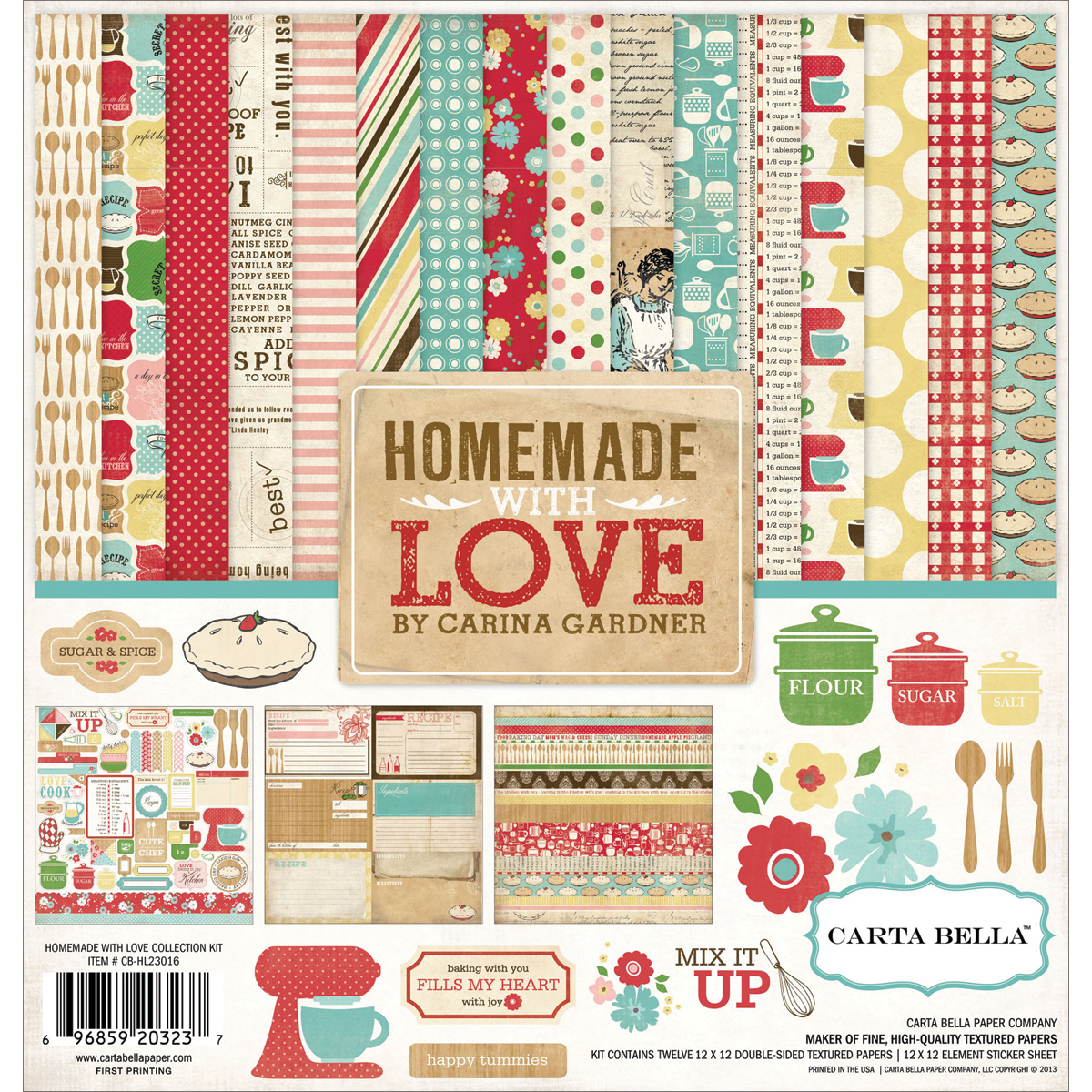 Carta Bella Collection Kit 12x12 - Homemade With Love