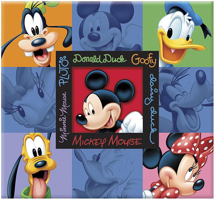 SandyLion Disney Post Bound Album 12X12 - Mickey & Friends Embossed