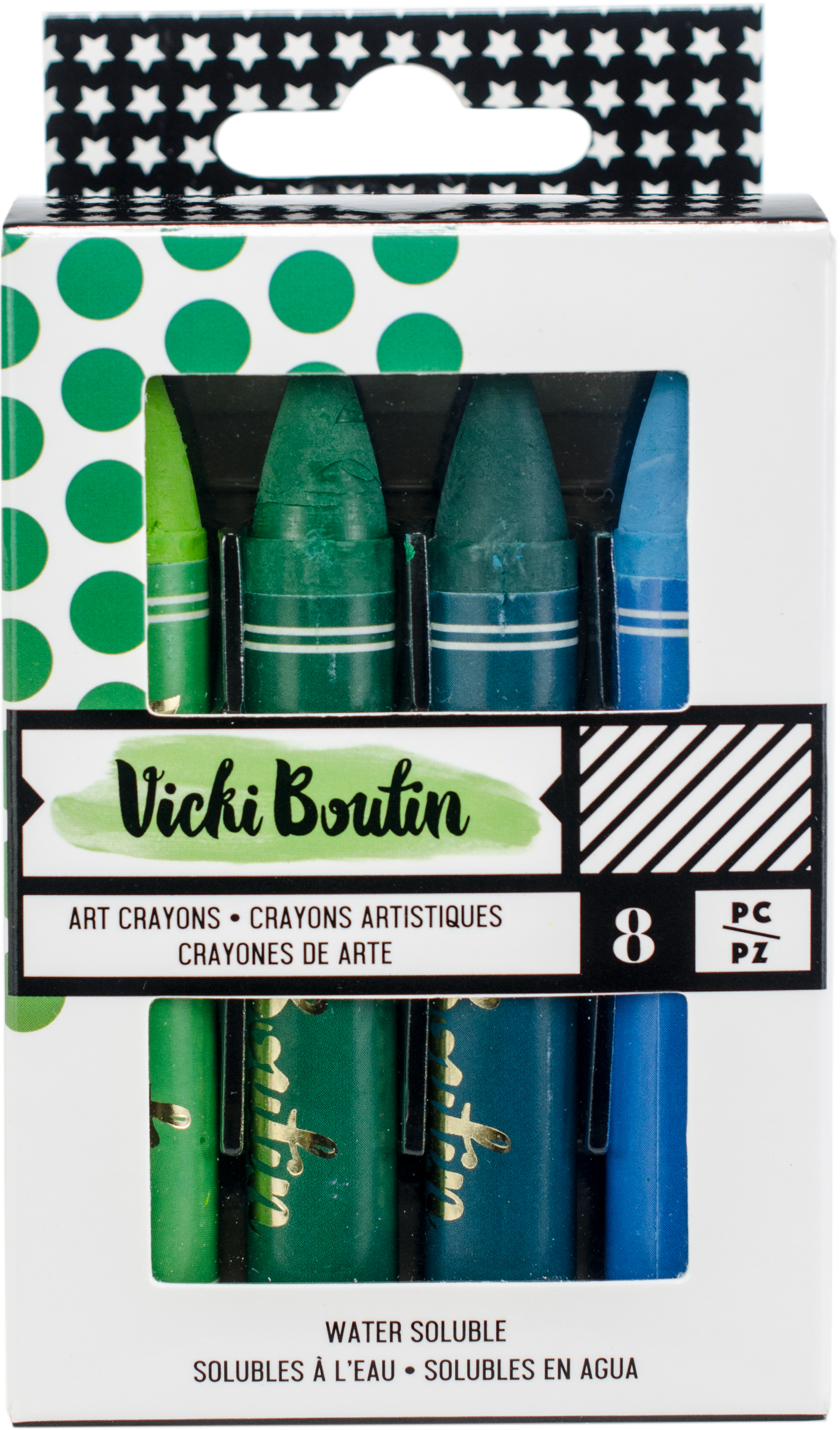 Vicki Boutin Mixed Media Oil Pastel Art Crayons 8/Pkg-#2 - Cool