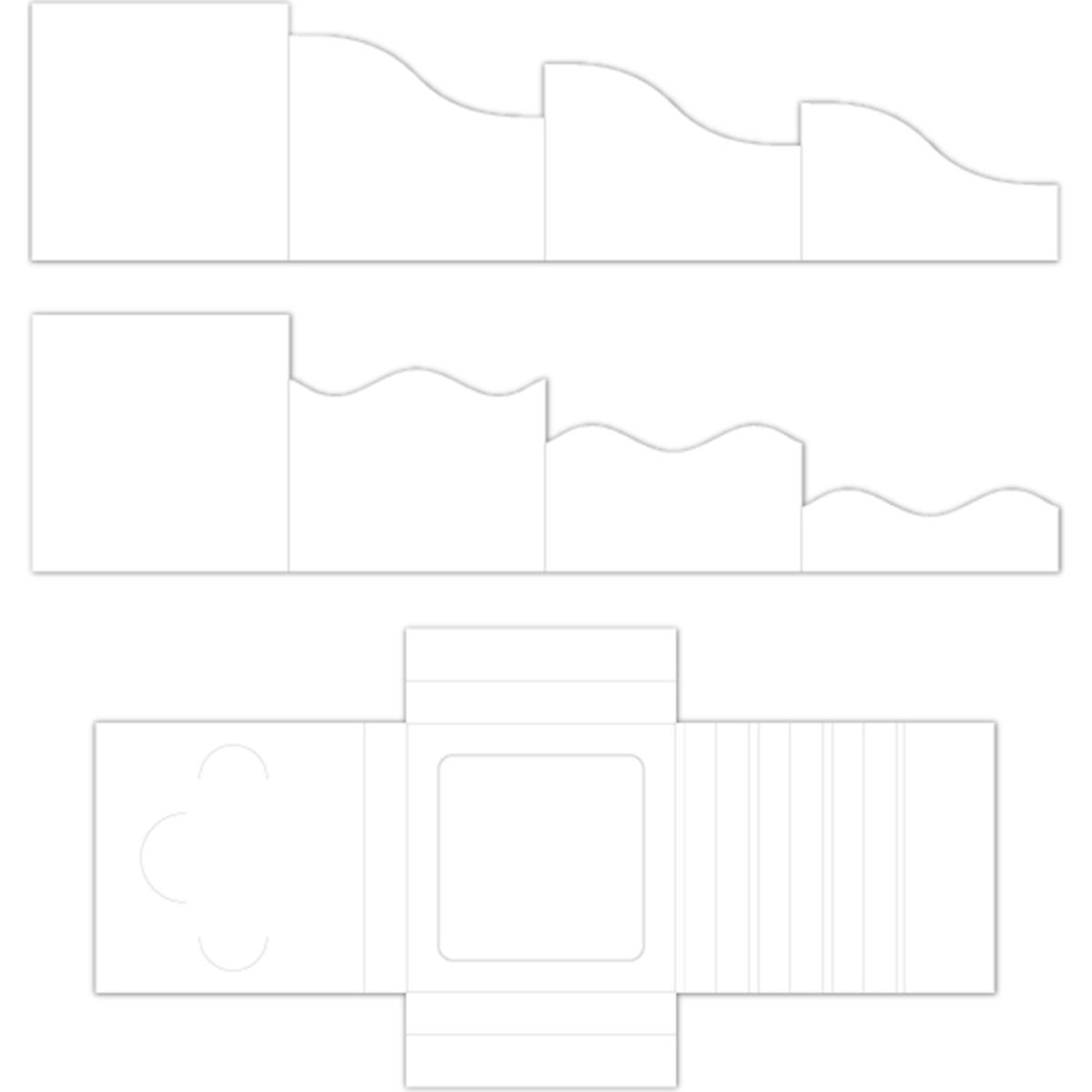 Foldout Cards White 6x6