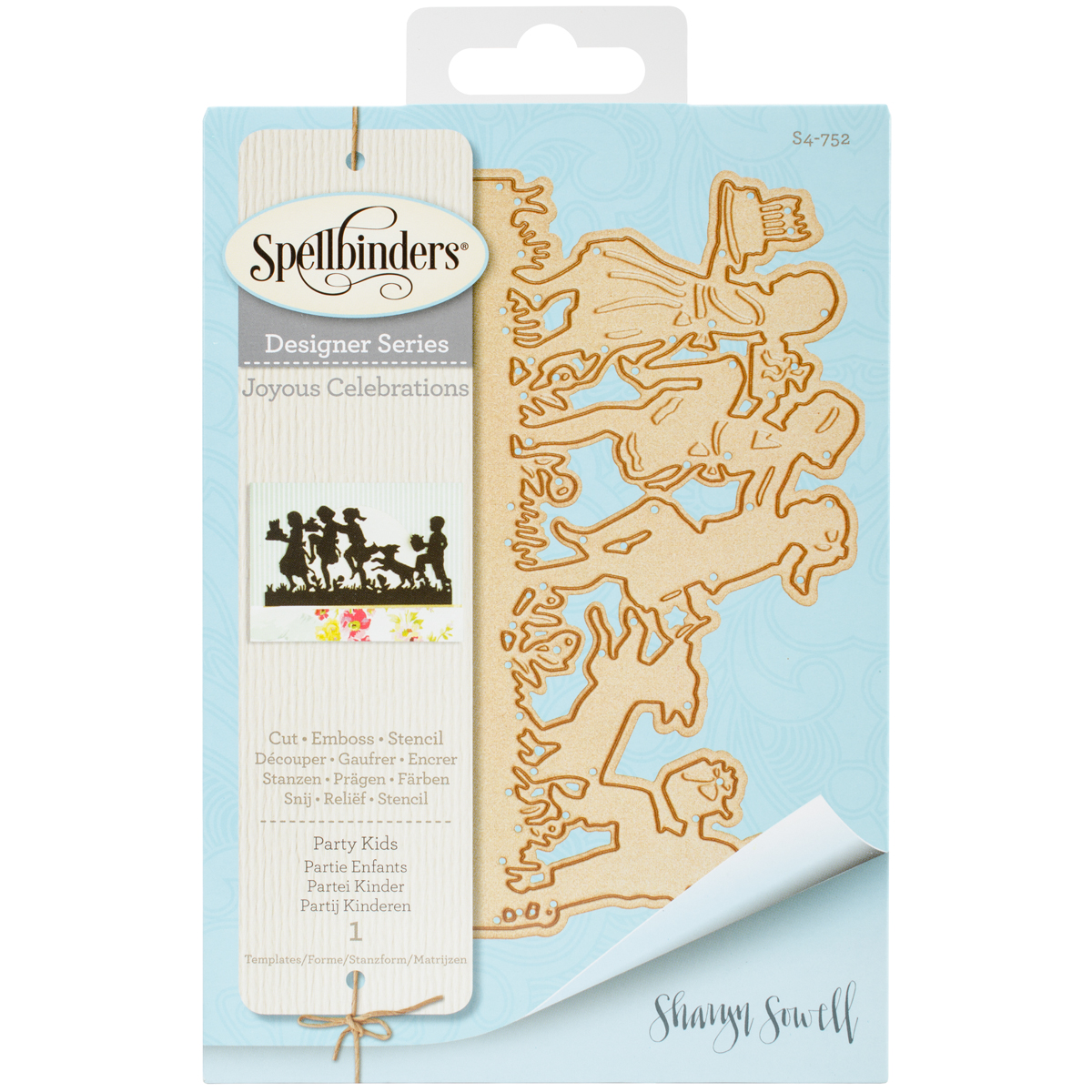 ^Spellbinders - Designer Series - Party Kids