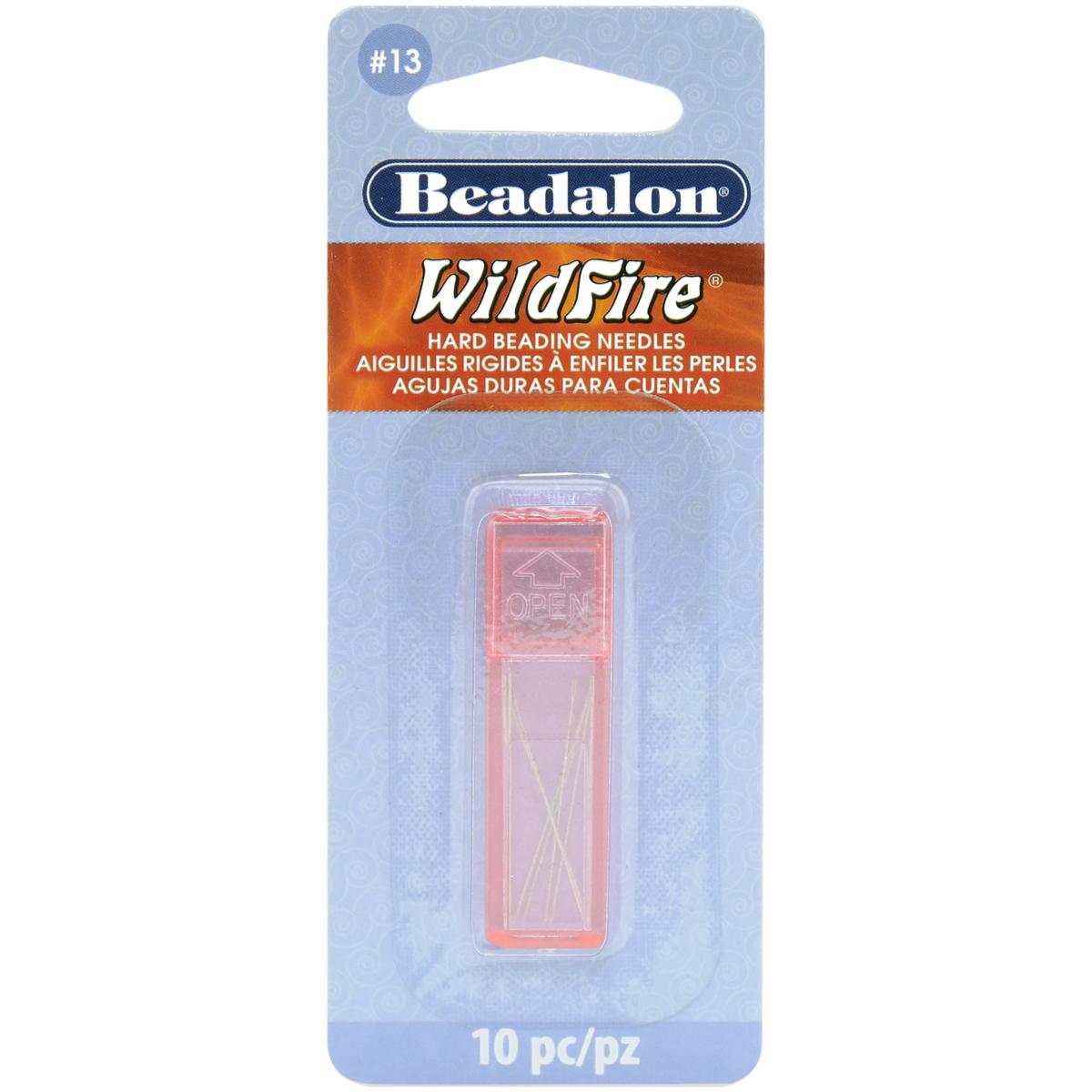 Wildfire Hard Beading Needle 10/Pkg-Size #13