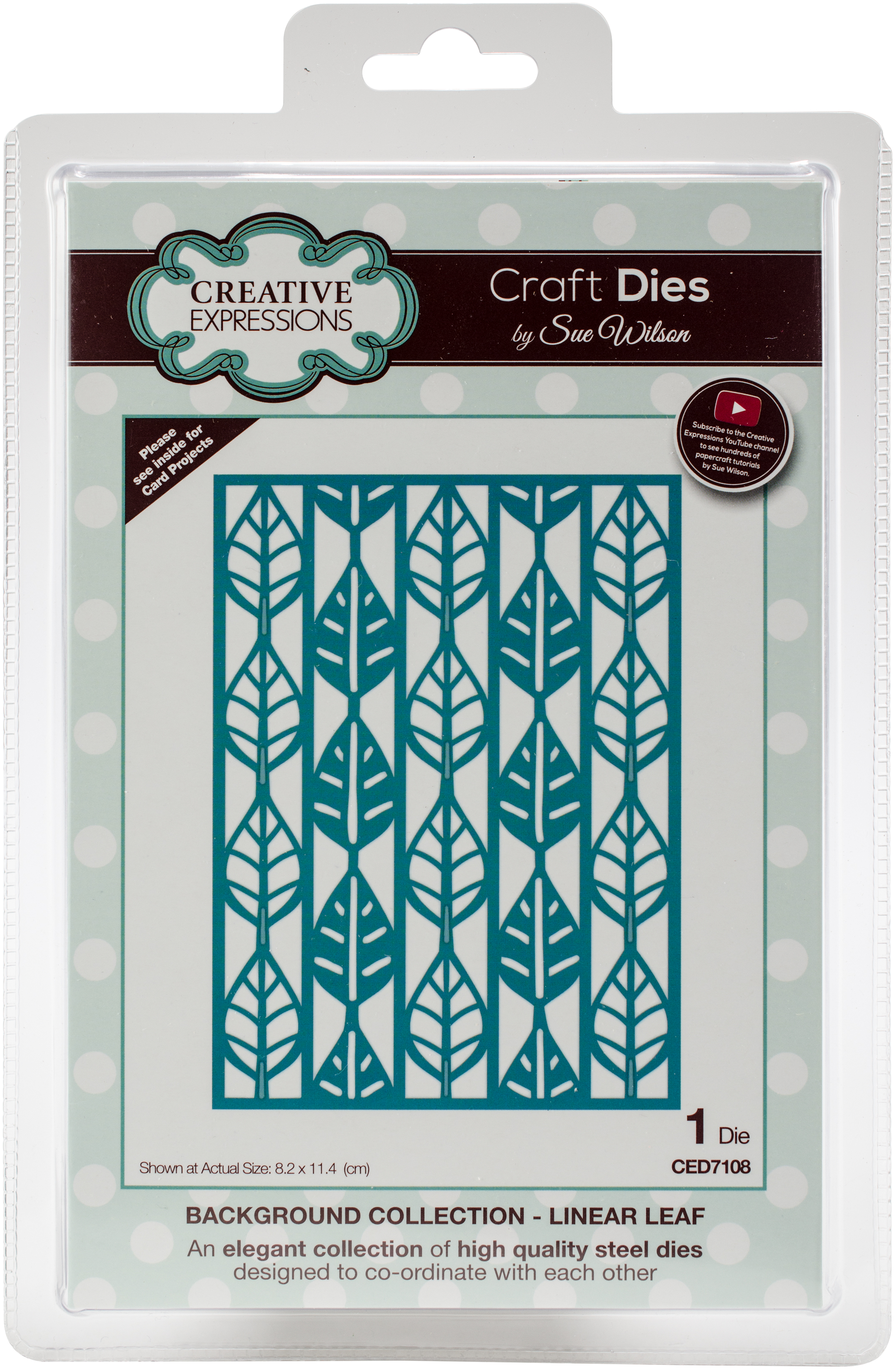 Creative Expressions Craft Dies By Sue Wilson-Linear Leaf Background