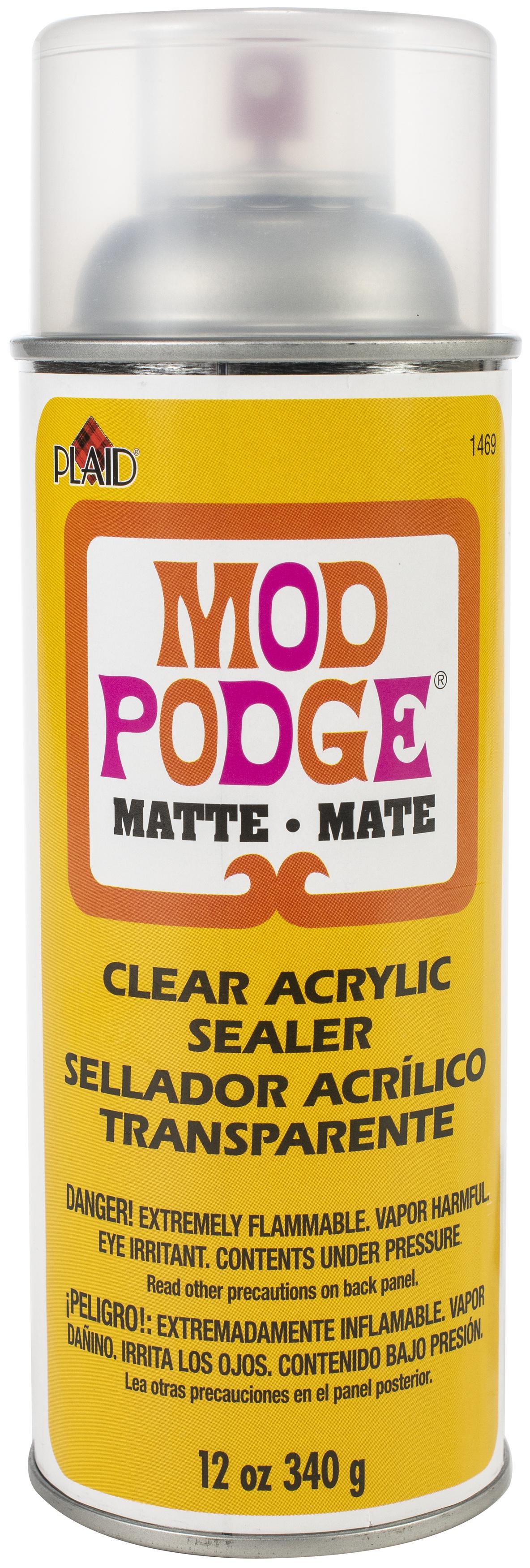 Mod Podge Clear Acrylic Aerosol Sealer-12oz Matte