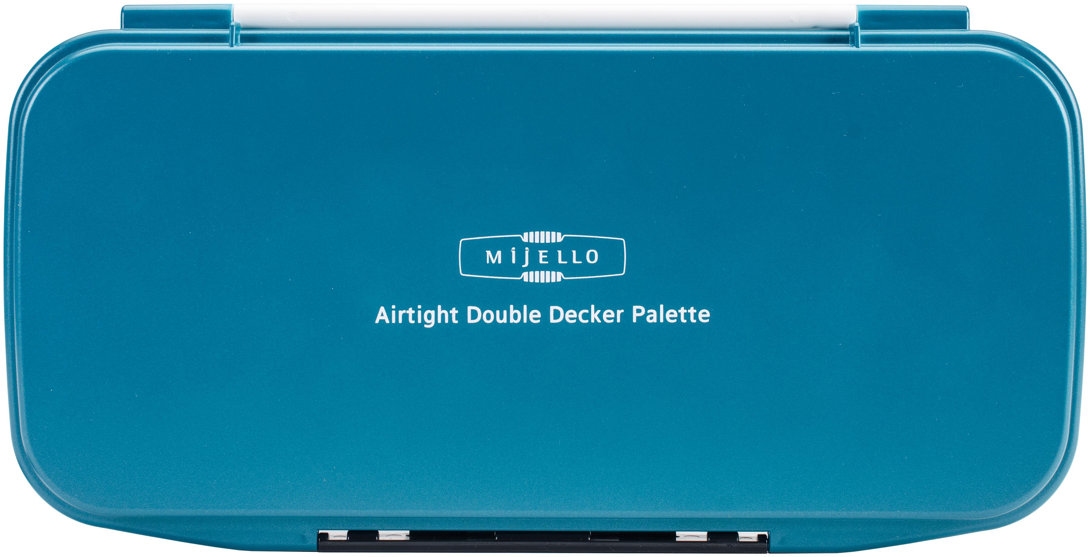 Mijello Double Decker Watercolor Palette-13.2X7X1.2