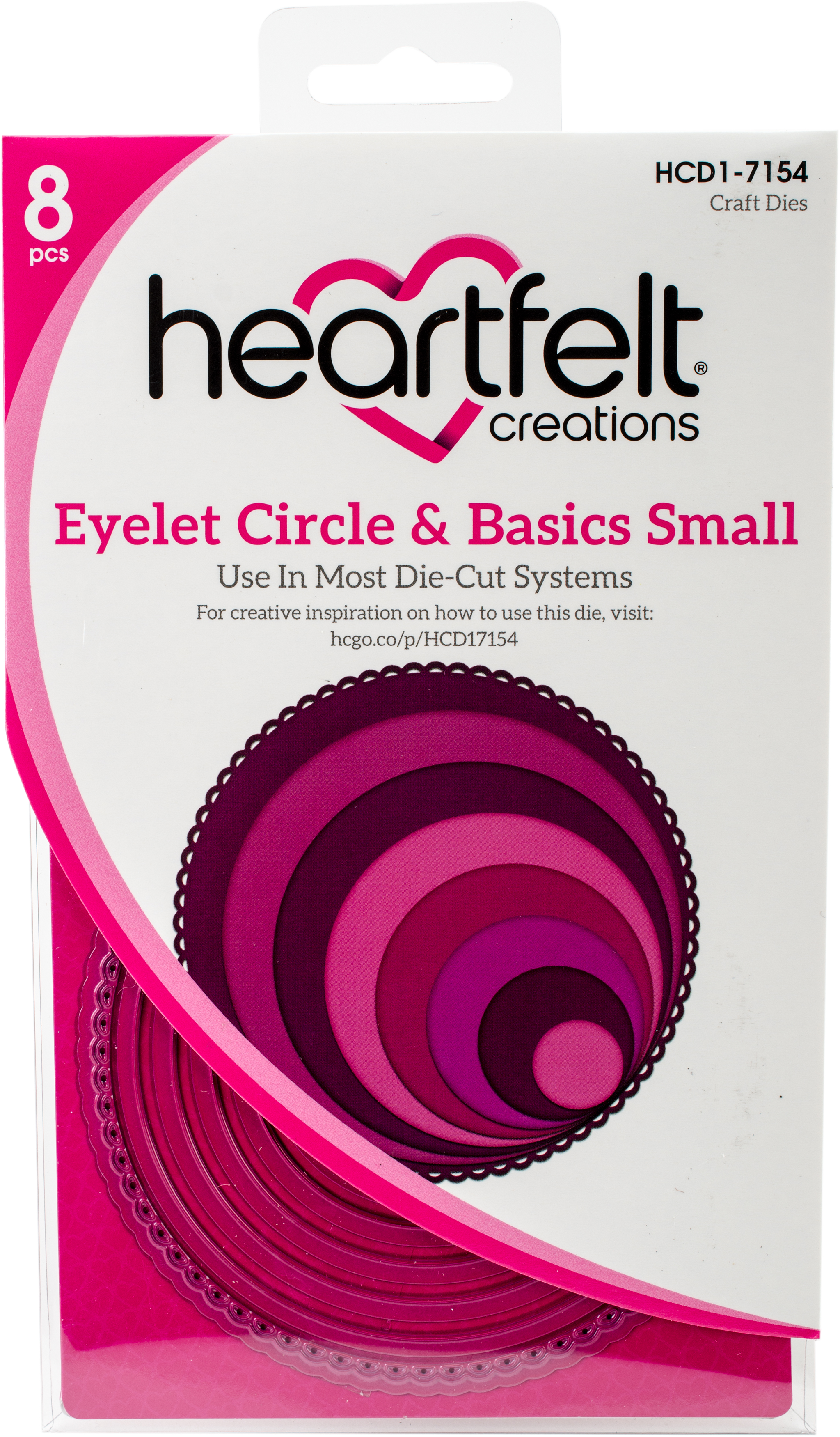 Heartfelt Creations Cut & Emboss Dies-Eyelet Circle & Basics Small