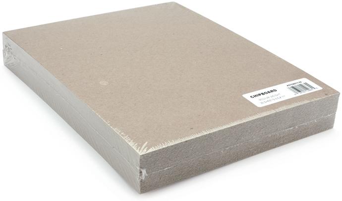 Medium Weight Chipboard Sheets 8.5X11 25/Pkg-Natural