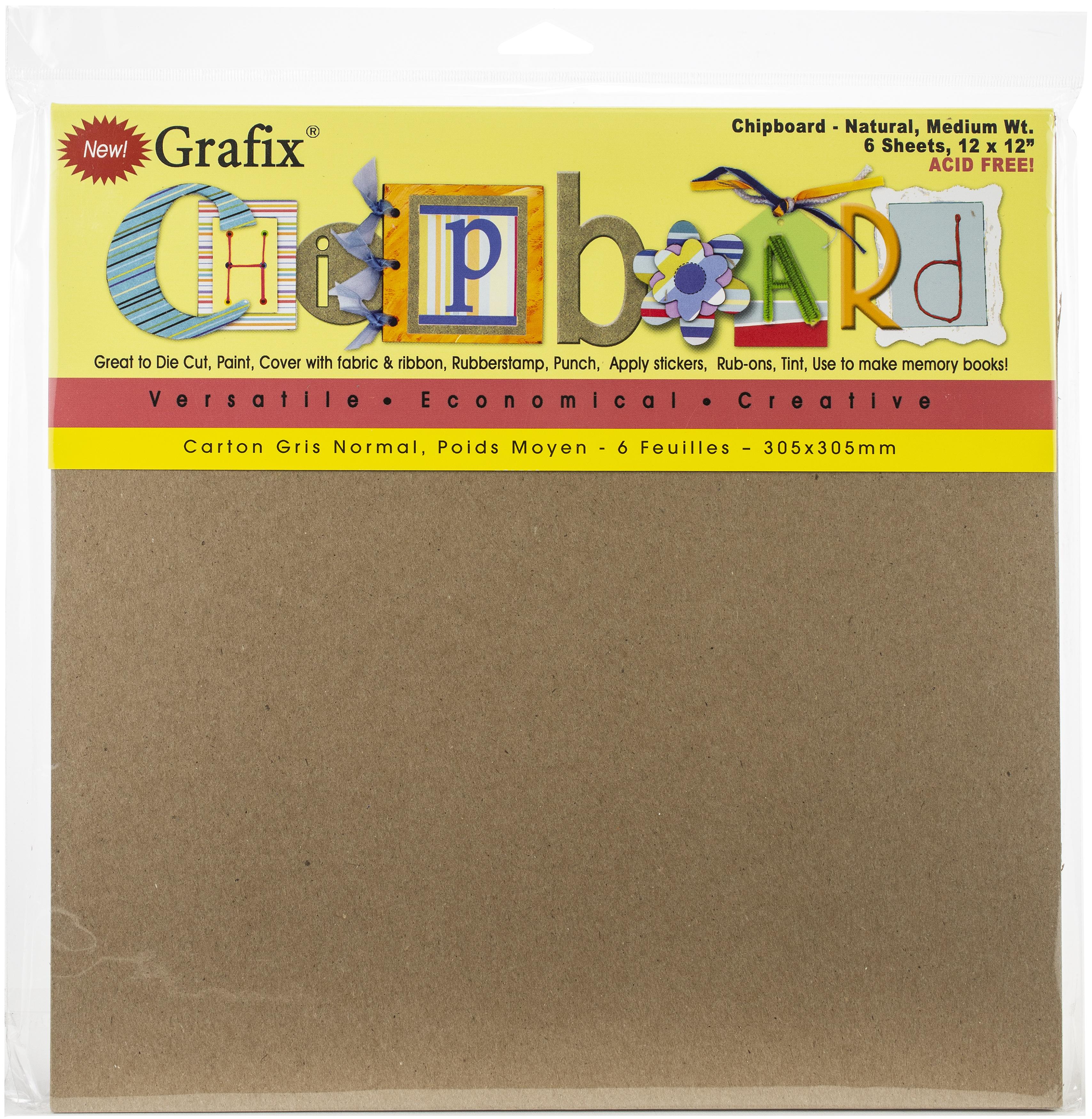 Chipboard Sheets Natural 12x12