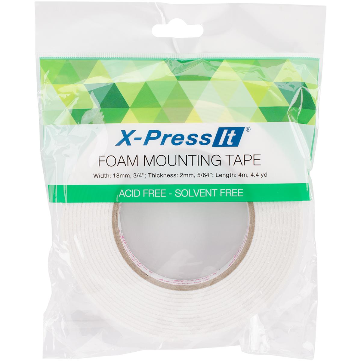 X-Press It Double-Sided Foam Tape 18mm-.75X4.4yd