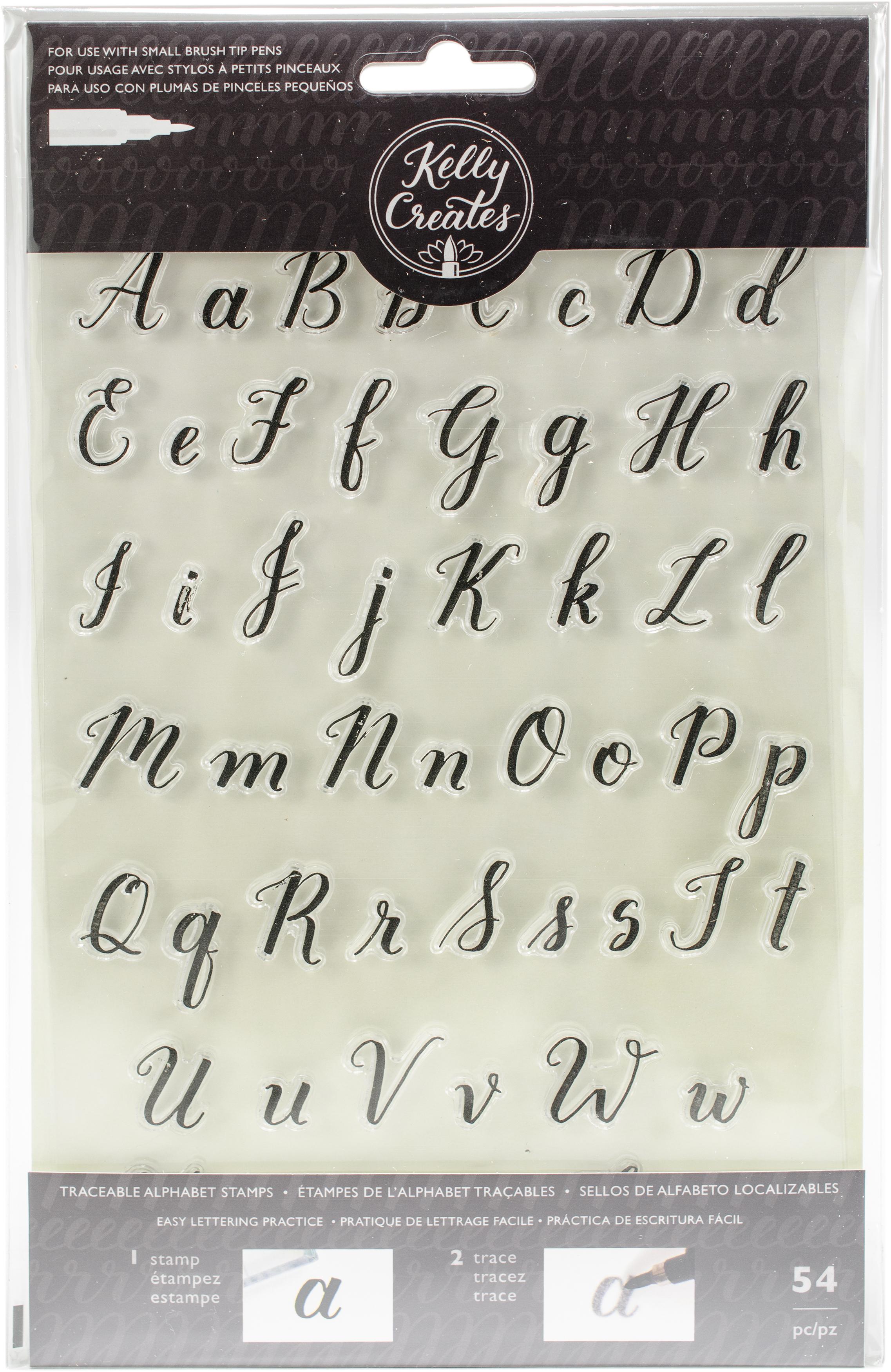 Kelly Creates Acrylic Traceable Stamps-Alphabet