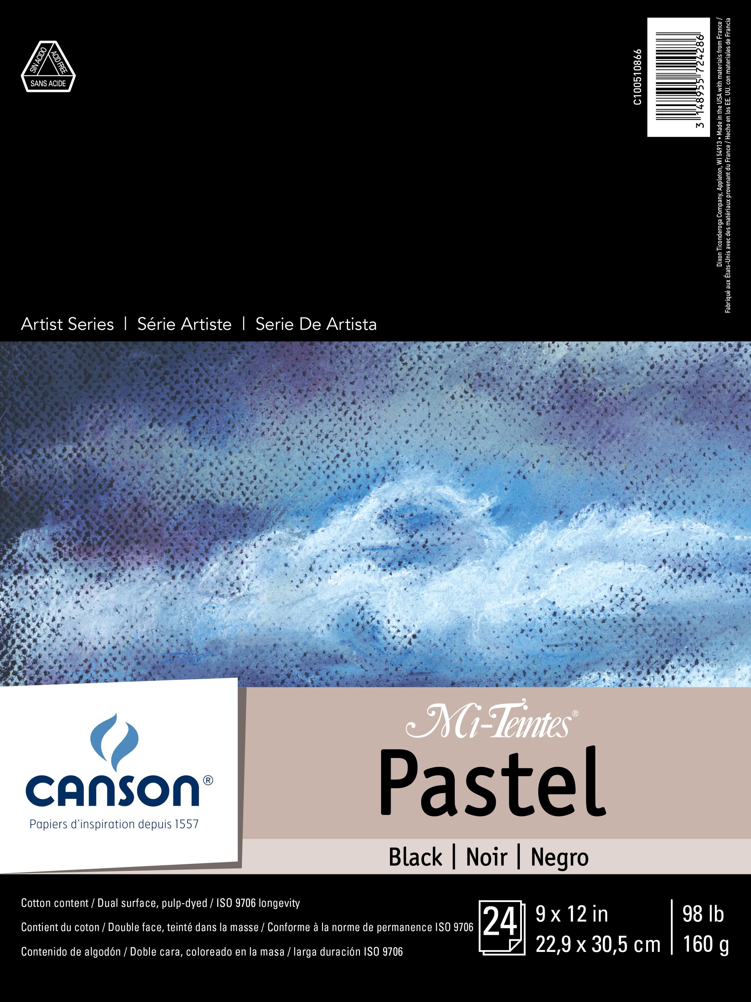 Canson Mi-Teintes Pastel Black Paper Pad