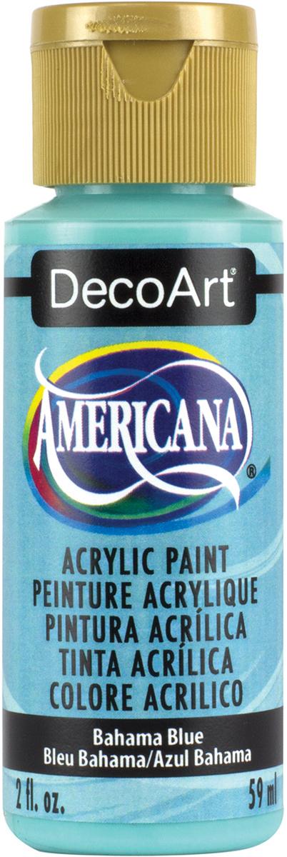 Americana Acrylic Paint 2oz-Bahama Blue - Opaque